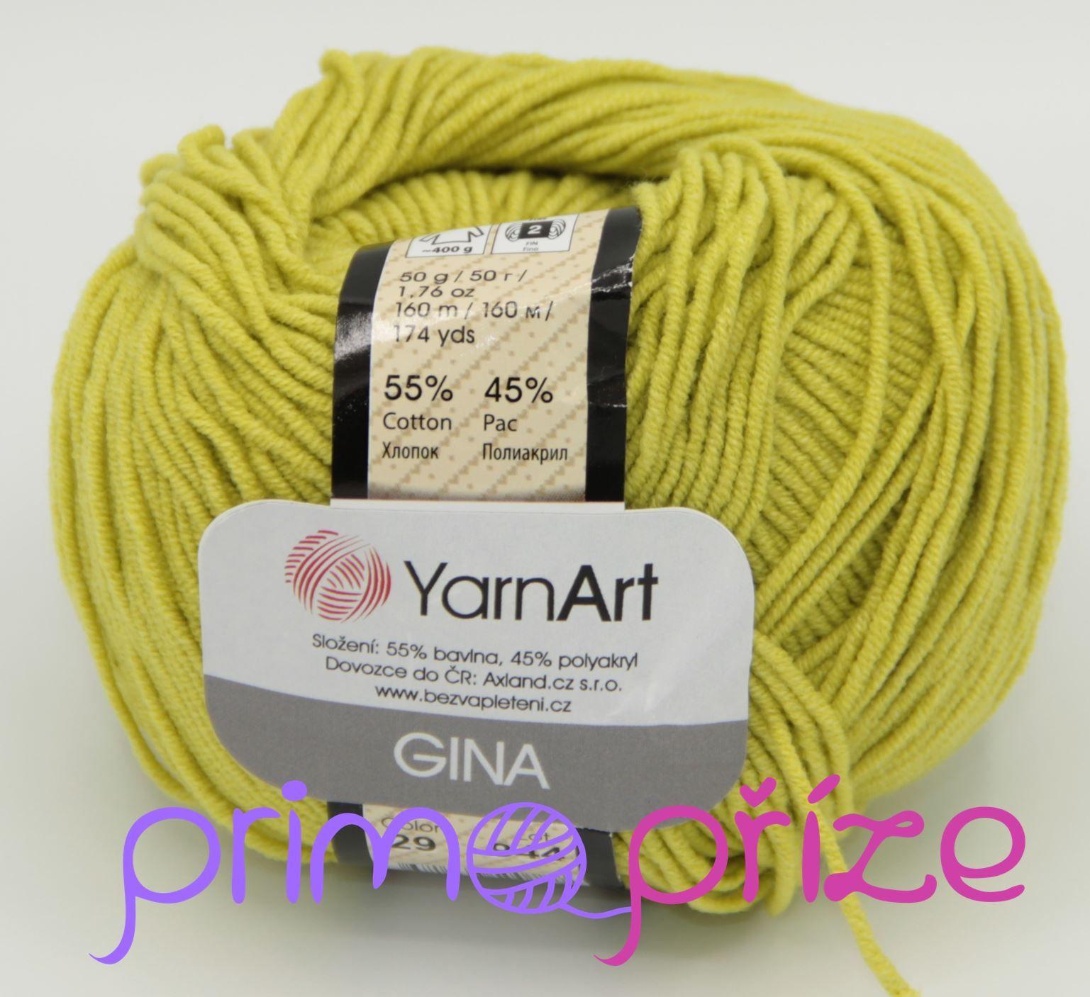 YarnArt Jeans/Gina 29 žlutozelená