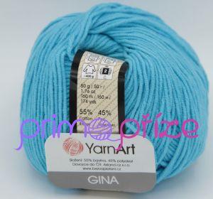 YarnArt Jeans/Gina 33 světle tyrkysová