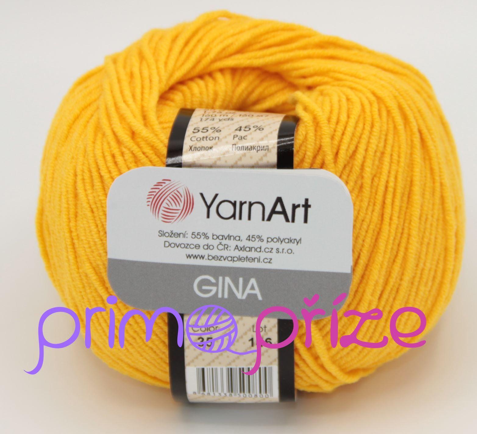 YarnArt Jeans/Gina 35 žlutá