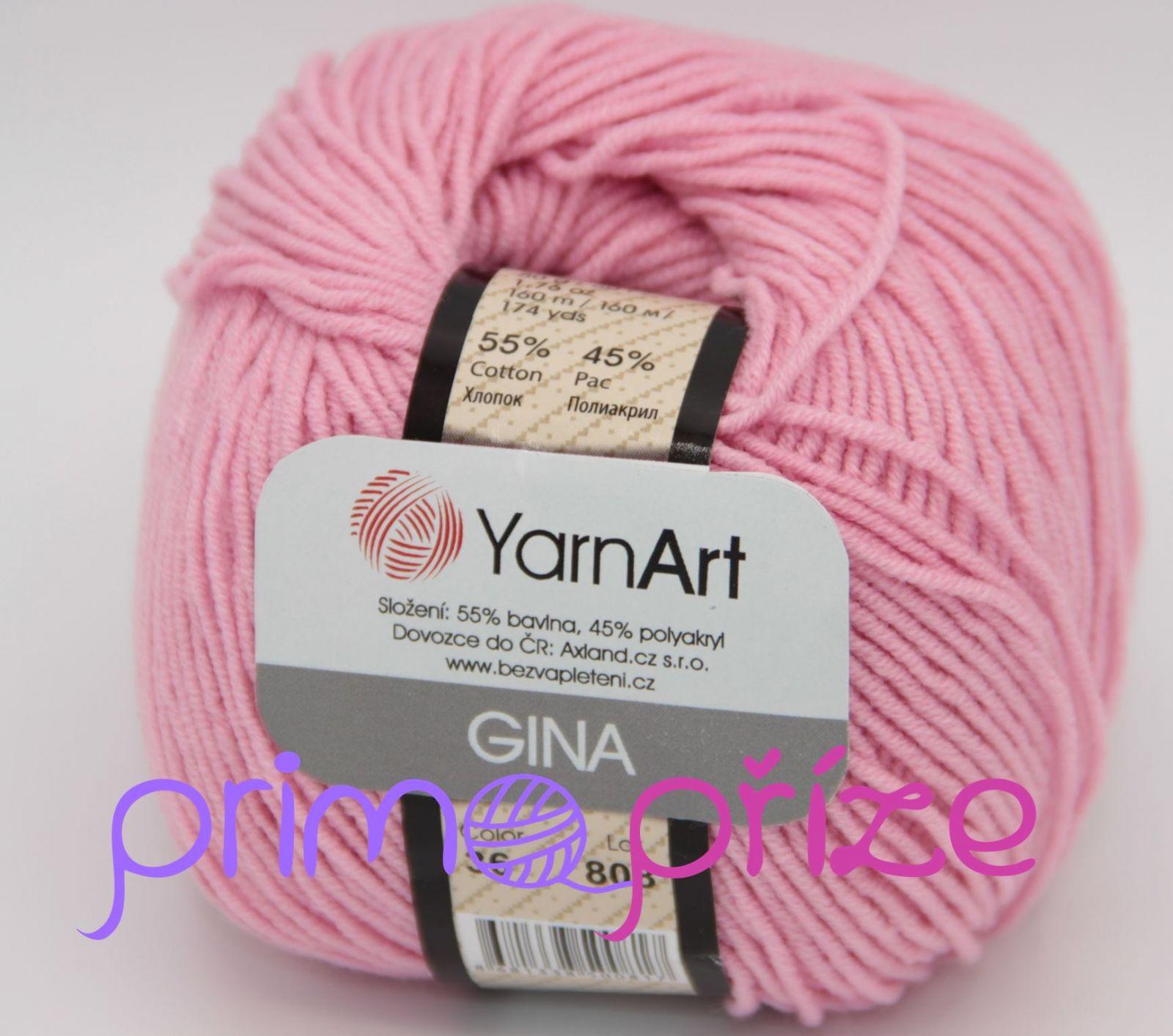 YarnArt Jeans/Gina 36 světle růžová