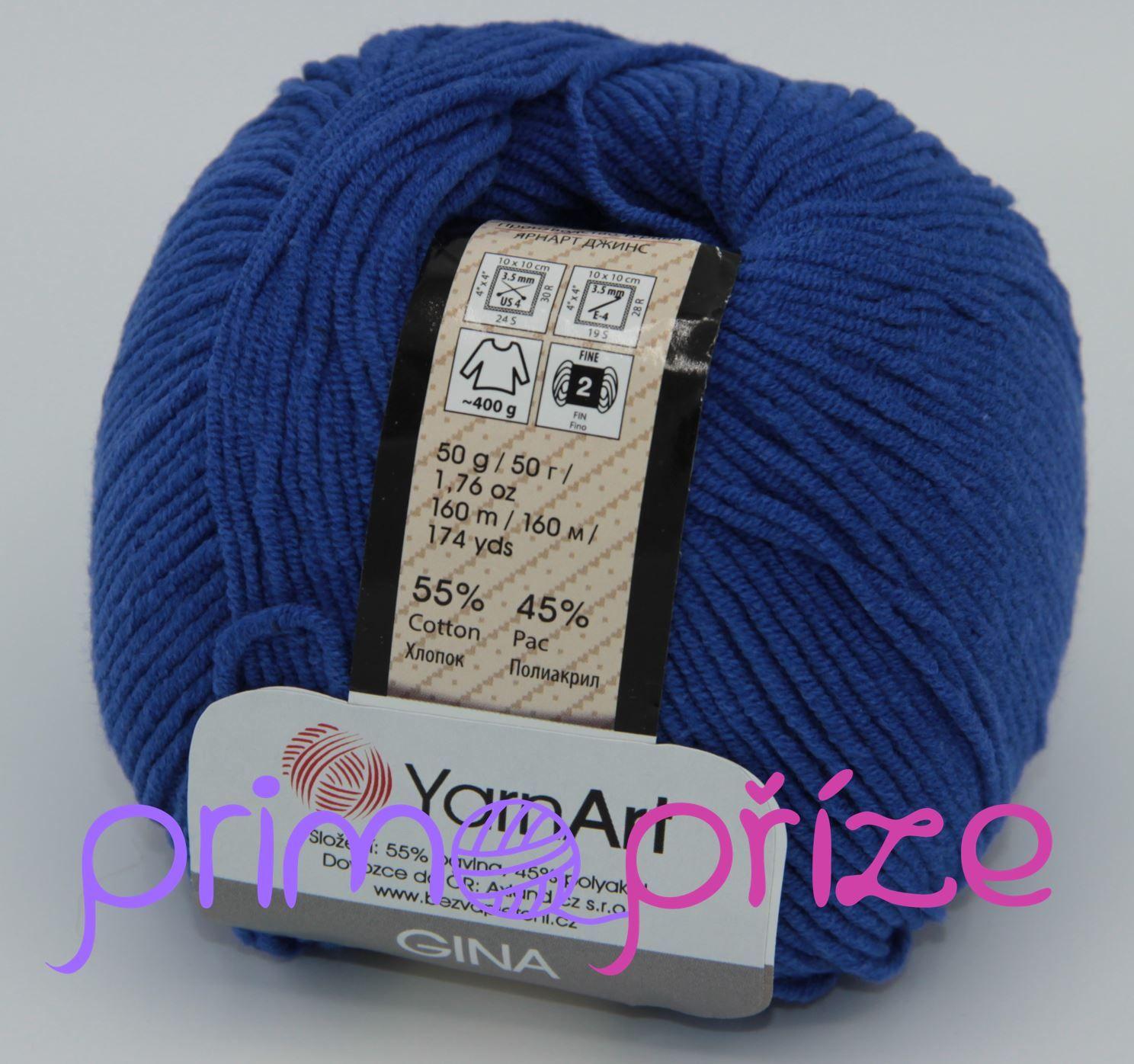 YarnArt Jeans/Gina 47 modrá