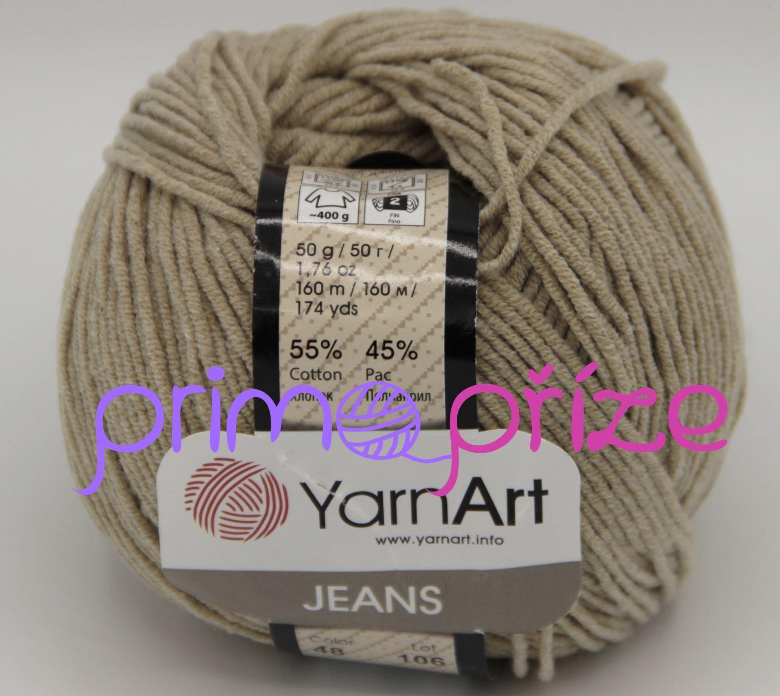 YarnArt Jeans/Gina 48 tmavě béžová