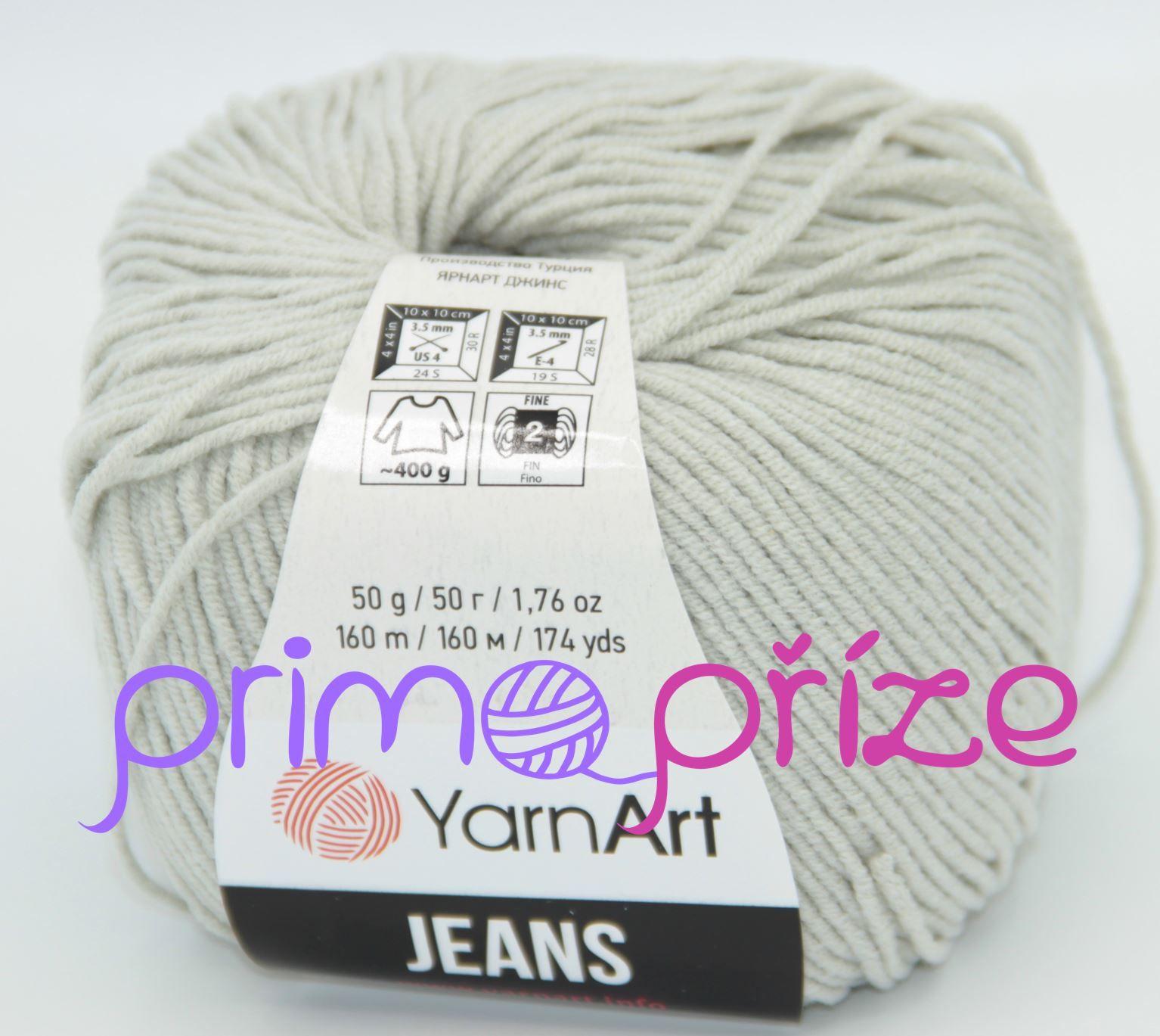 YarnArt Jeans/Gina 49 světle šedá