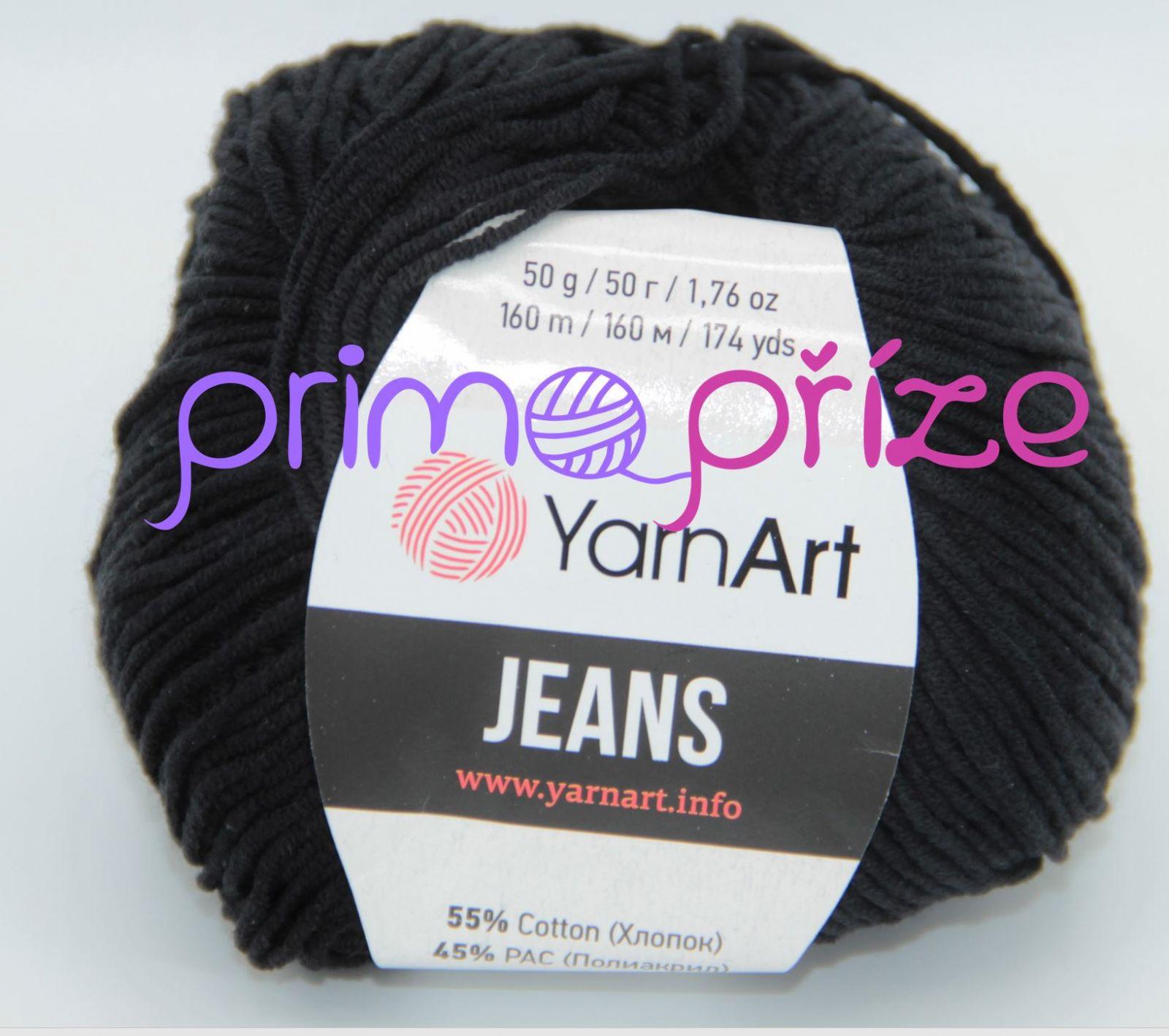 YarnArt Jeans/Gina 53 černá