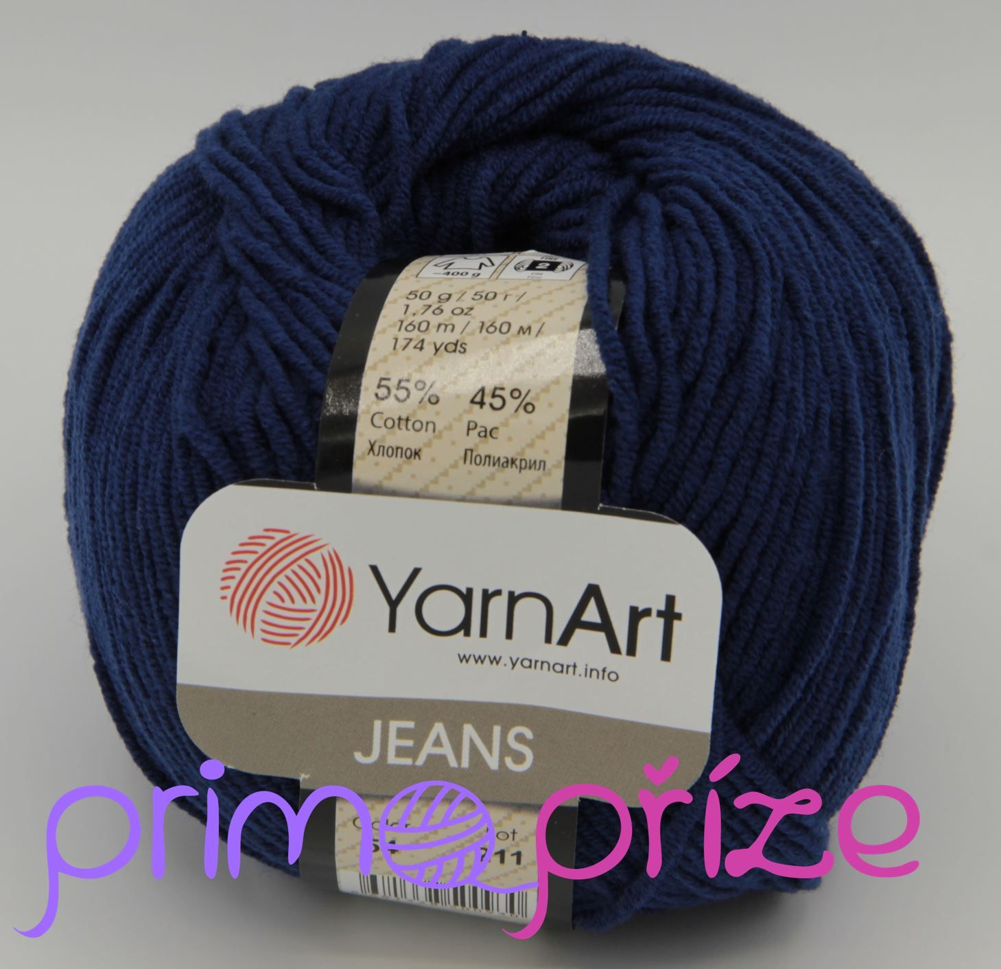 YarnArt Jeans/Gina 54 tmavě modrá