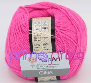 YarnArt Jeans/Gina 59 sytá růžová