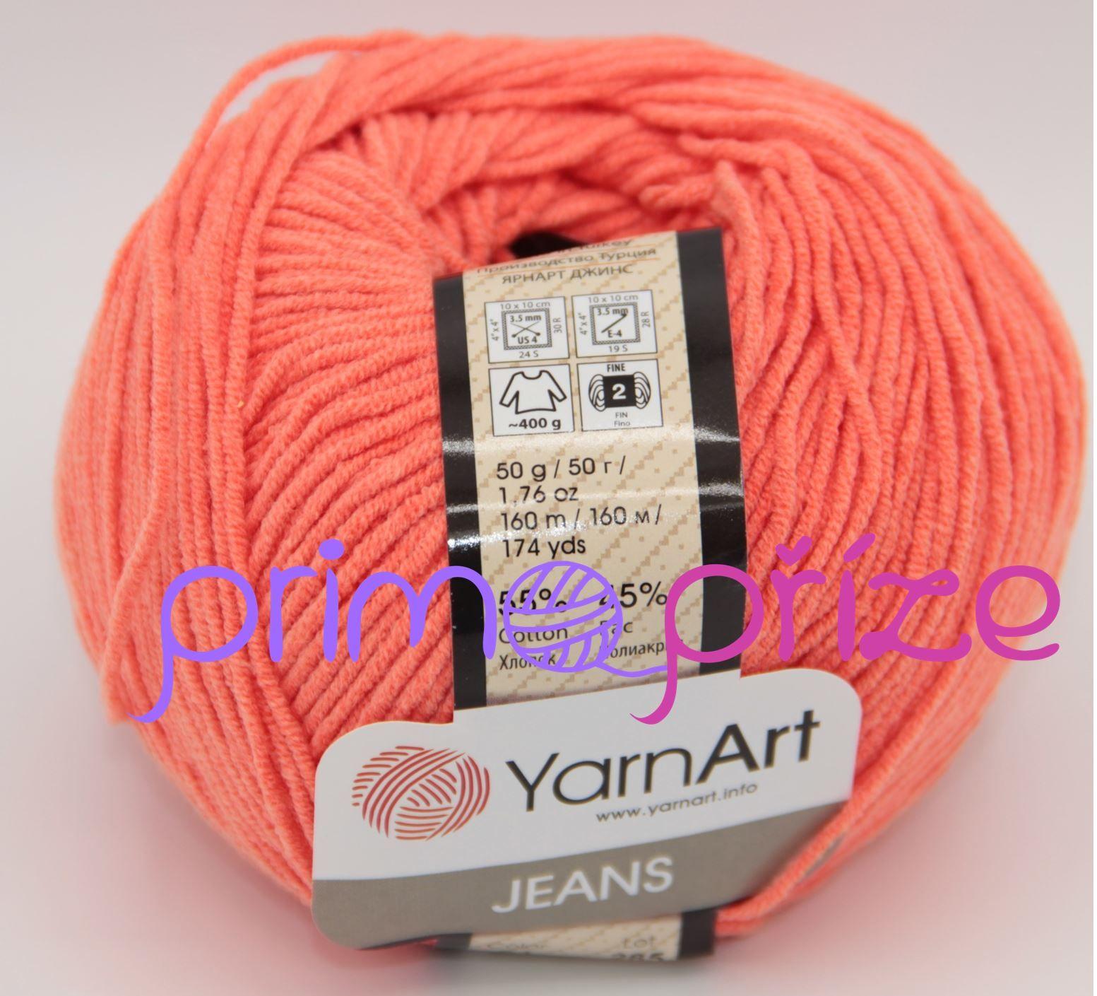 YarnArt Jeans/Gina 61 neonově oranžová