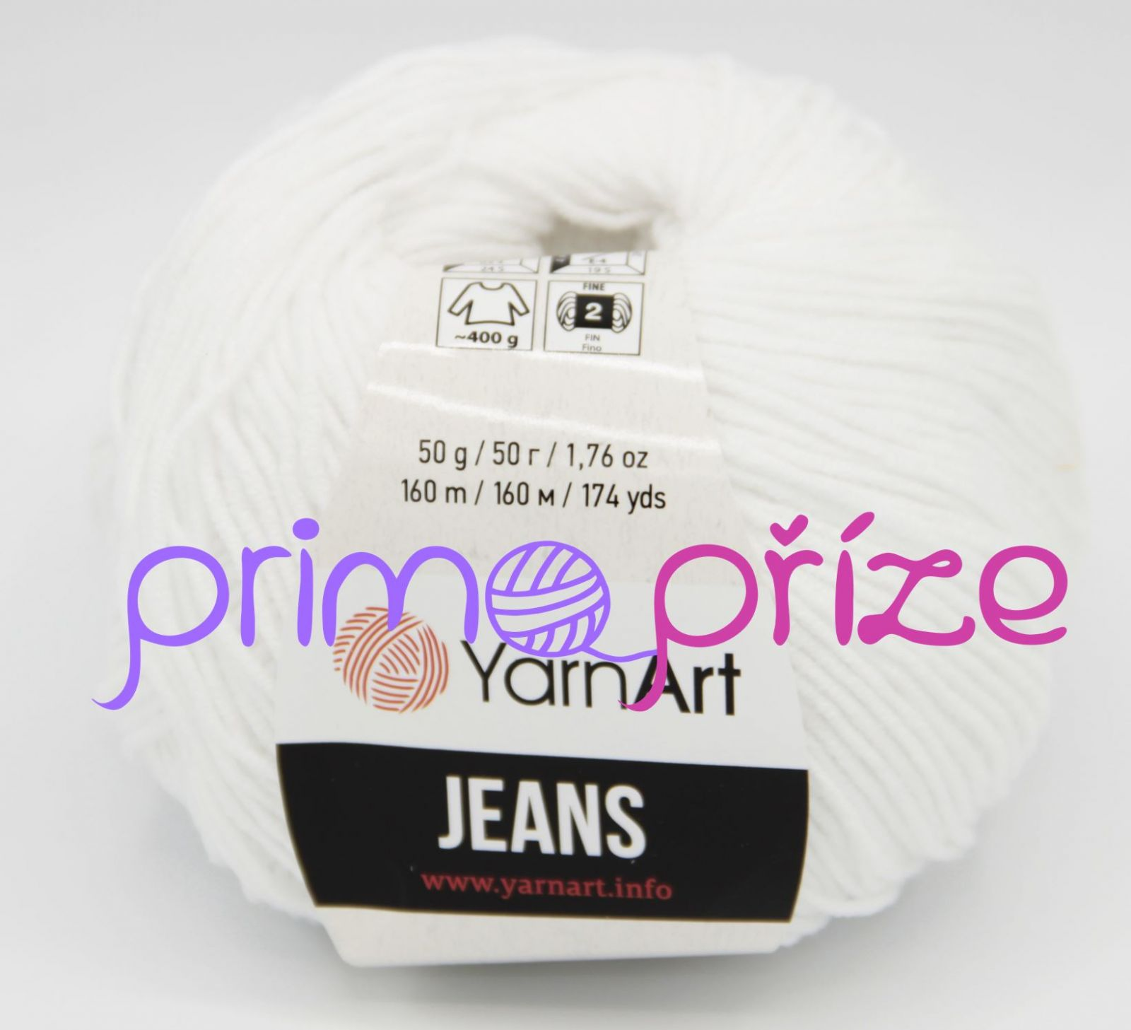 YarnArt Jeans/Gina 62 bílá