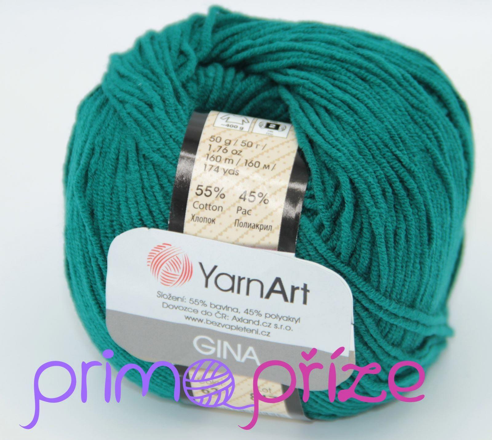 YarnArt Jeans/Gina 63 petrolejová