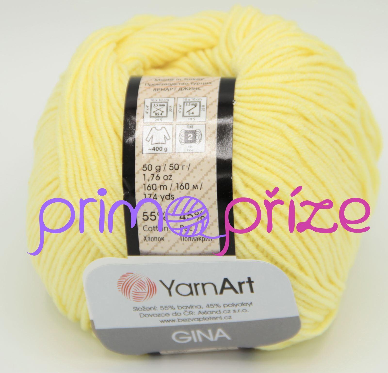 YarnArt Jeans/Gina 67 světle žlutá