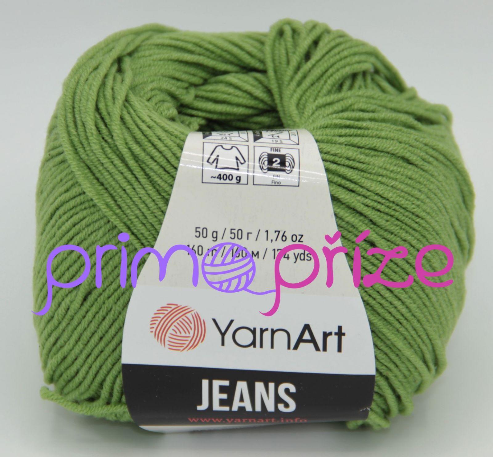 YarnArt Jeans/Gina 69 zelená