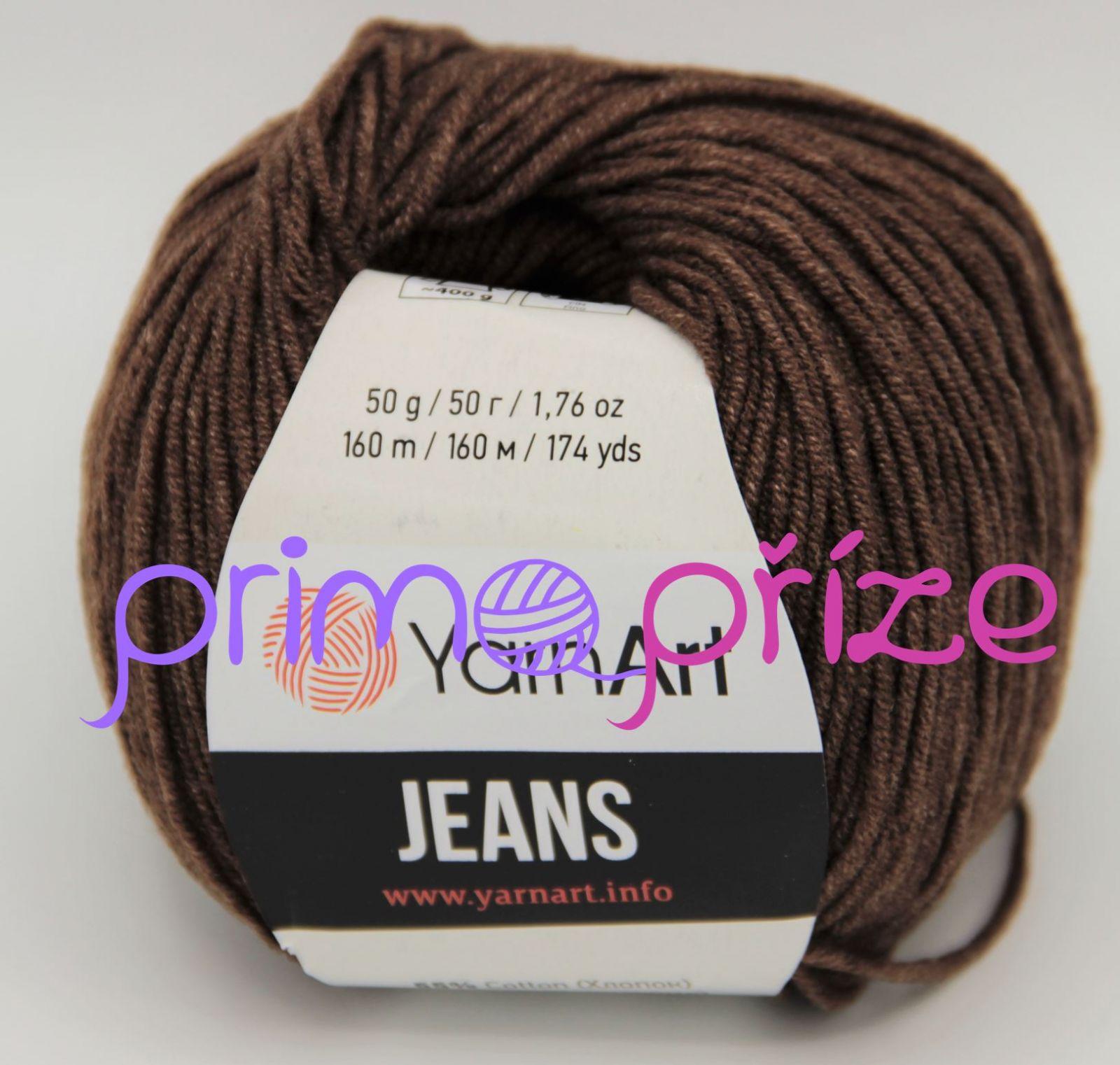 YarnArt Jeans/Gina 70 tmavě hnědá