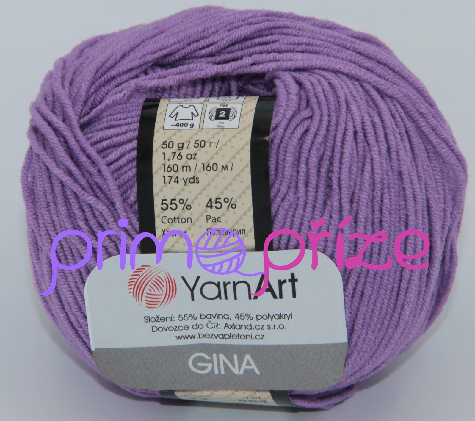 YarnArt Jeans/Gina 72 fialová