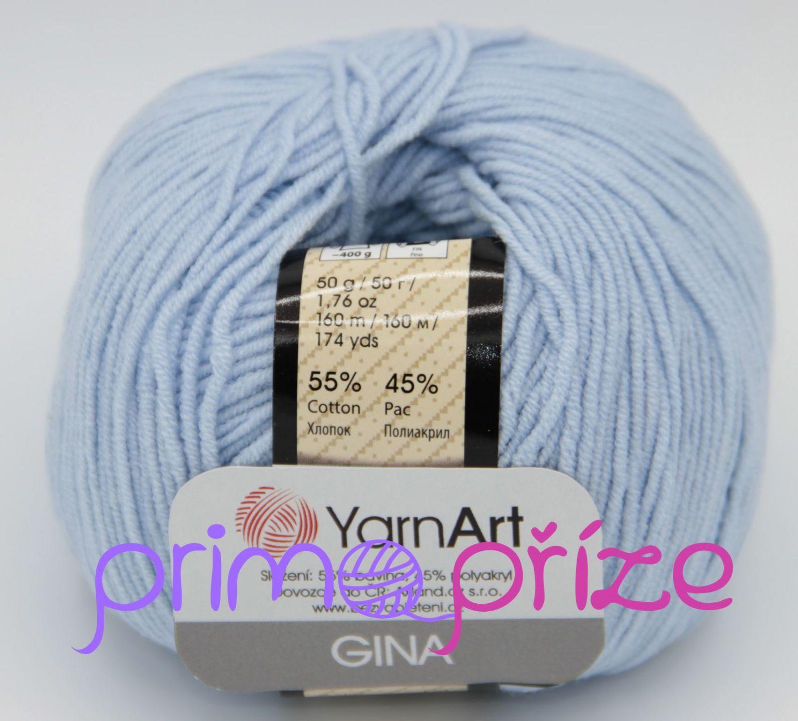 YarnArt Jeans/Gina 75 světle modrá