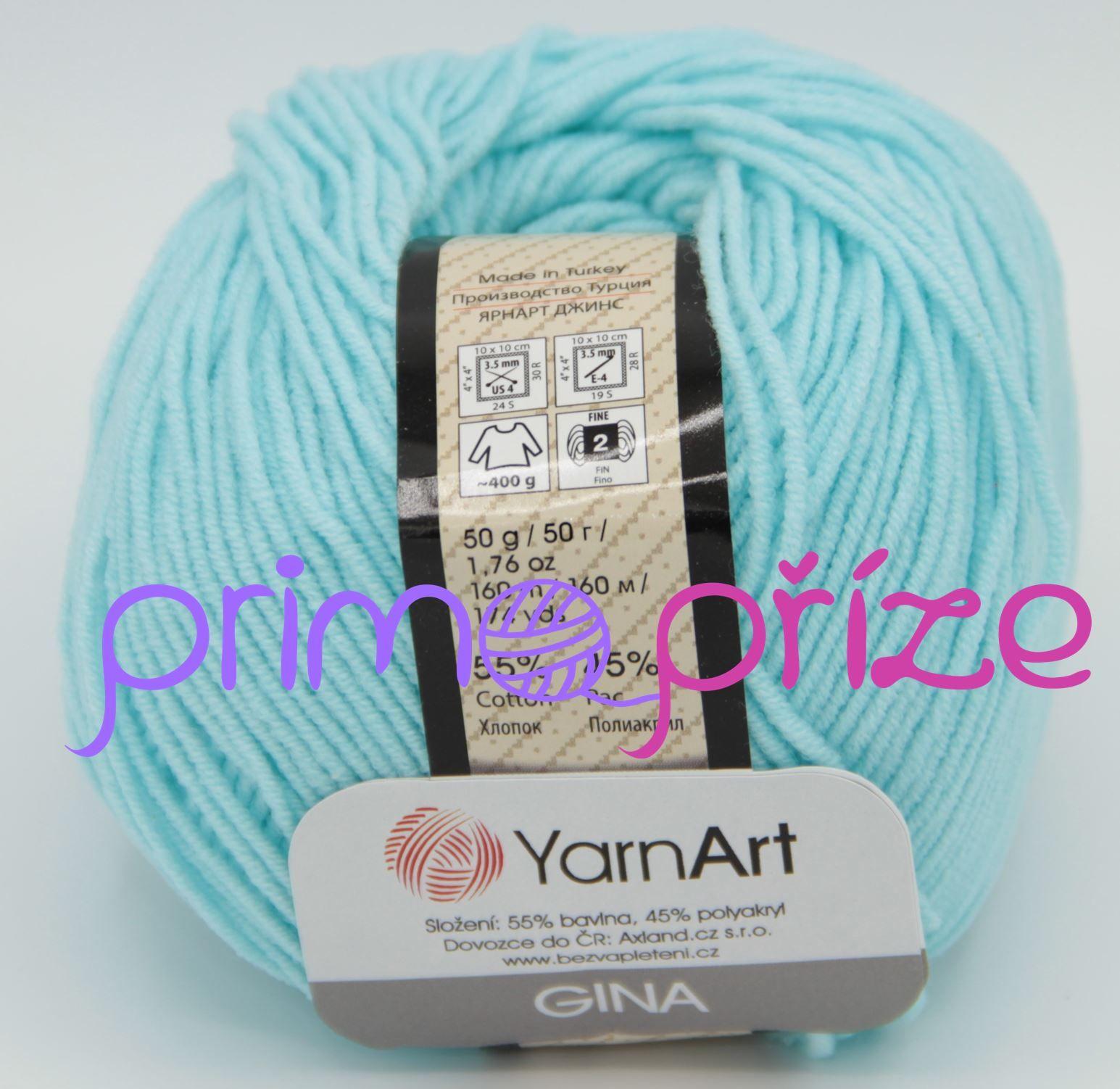 YarnArt Jeans/Gina 76 světle tyrkysová