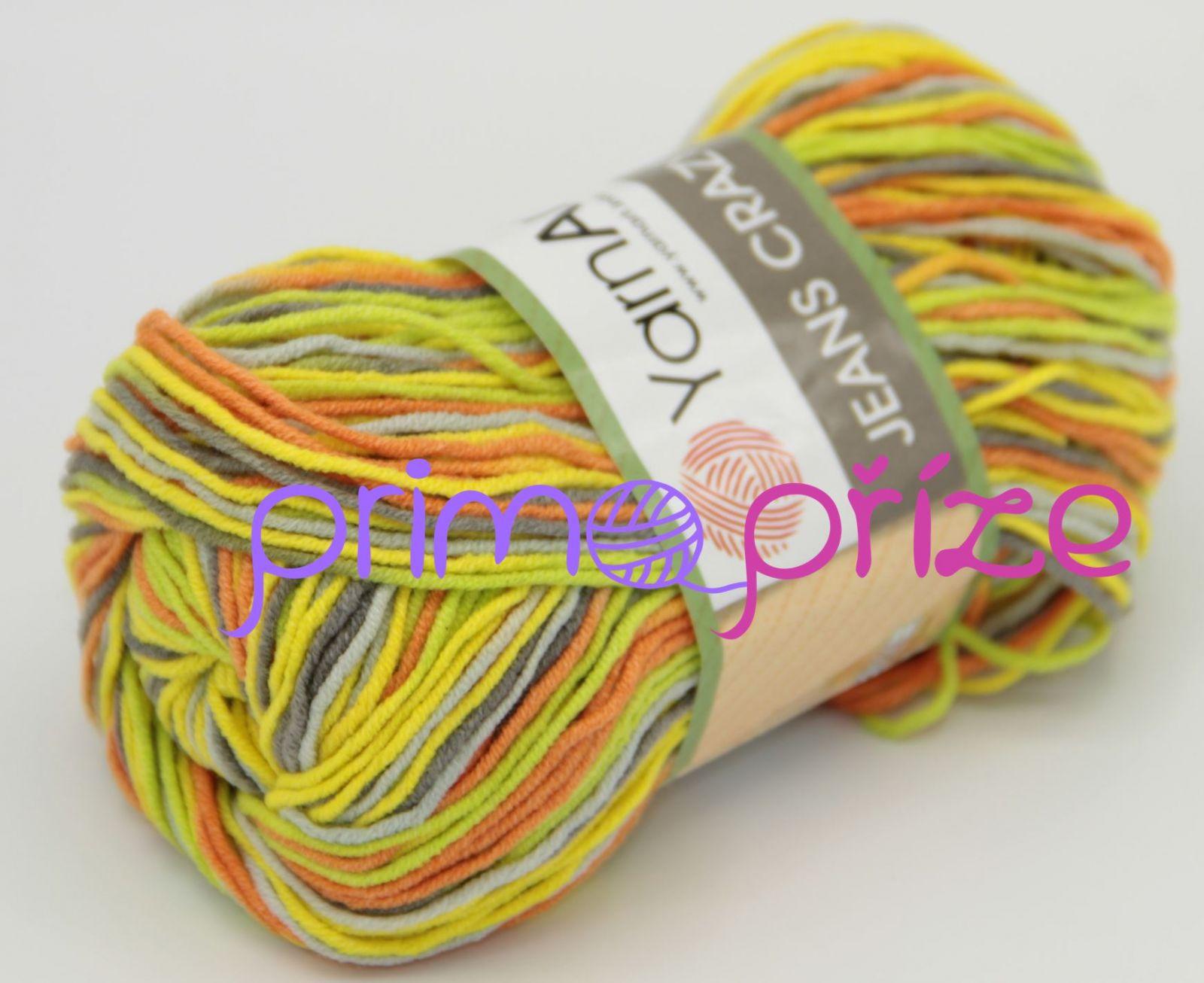 YarnArt Jeans/Gina Crazy 7201 melírovaná