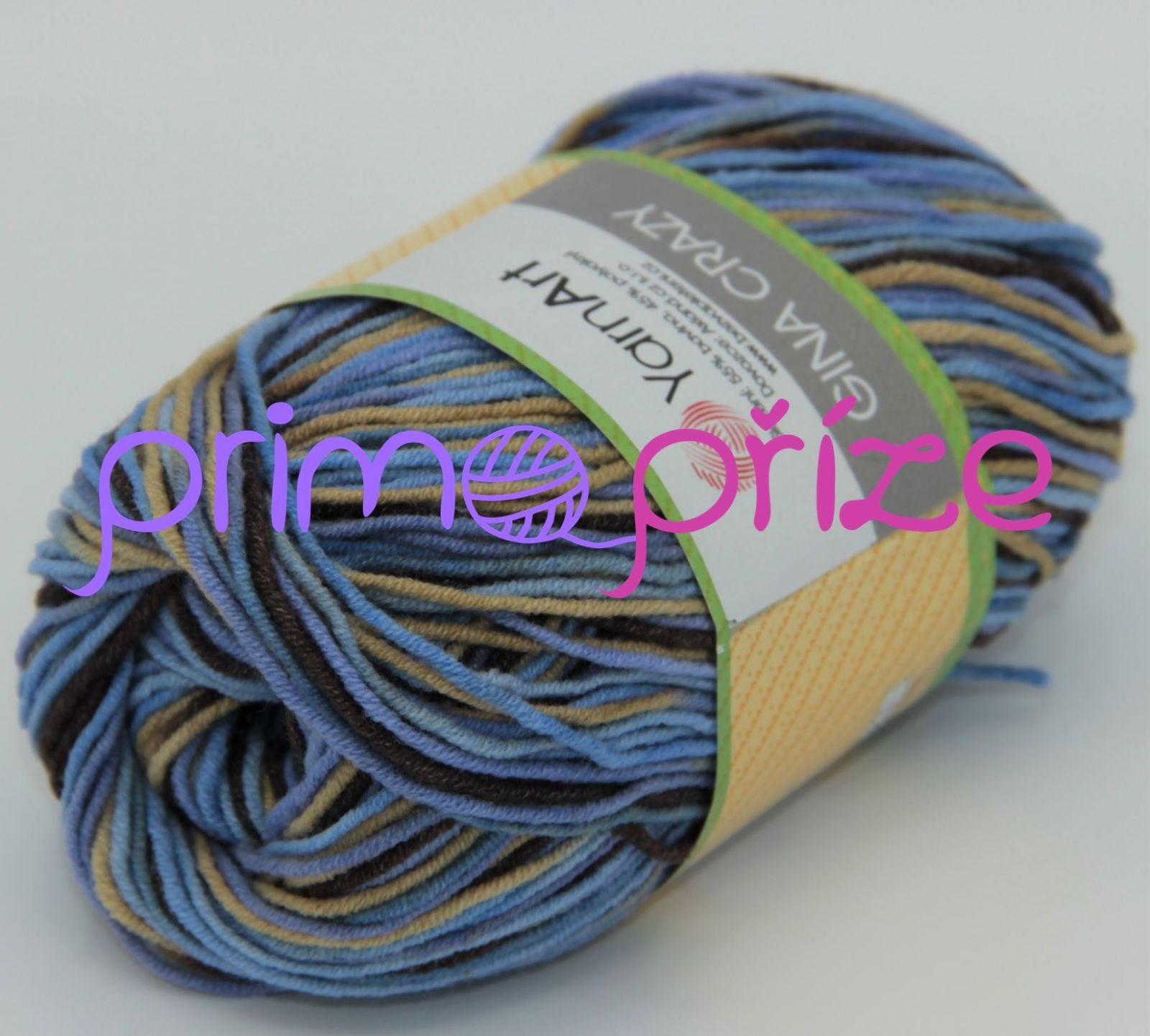 YarnArt Jeans/Gina Crazy 7202 melírovaná