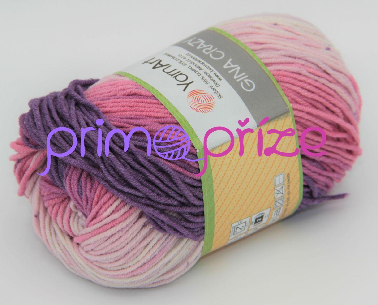 YarnArt Jeans/Gina Crazy 8206 melírovaná