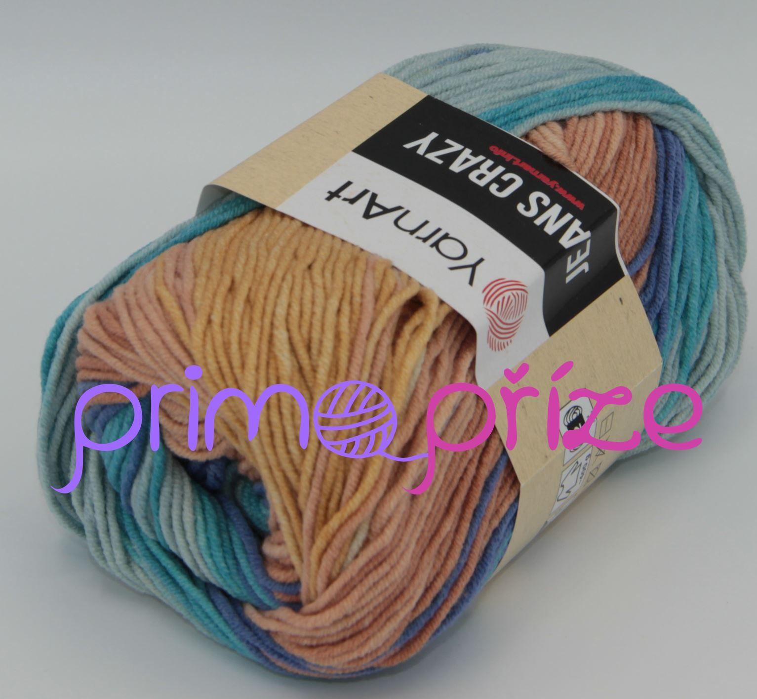 YarnArt Jeans/Gina Crazy 8207 melírovaná