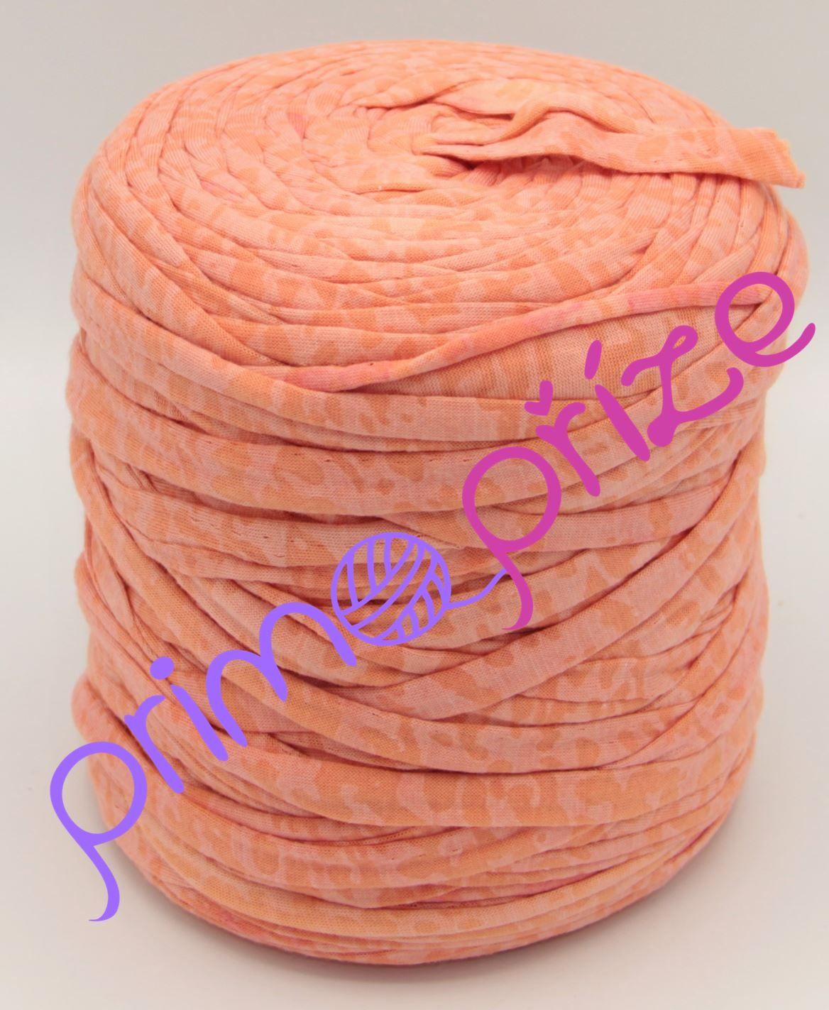 Zahraniční textilní příze VB2021 lososová s potiskem
