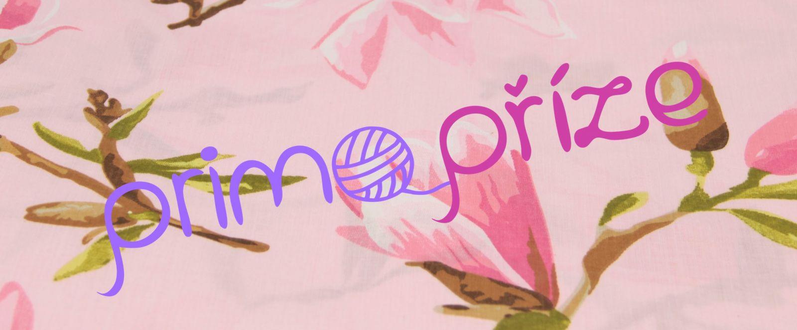 Bavlněná látka květiny na růžovém podkladu