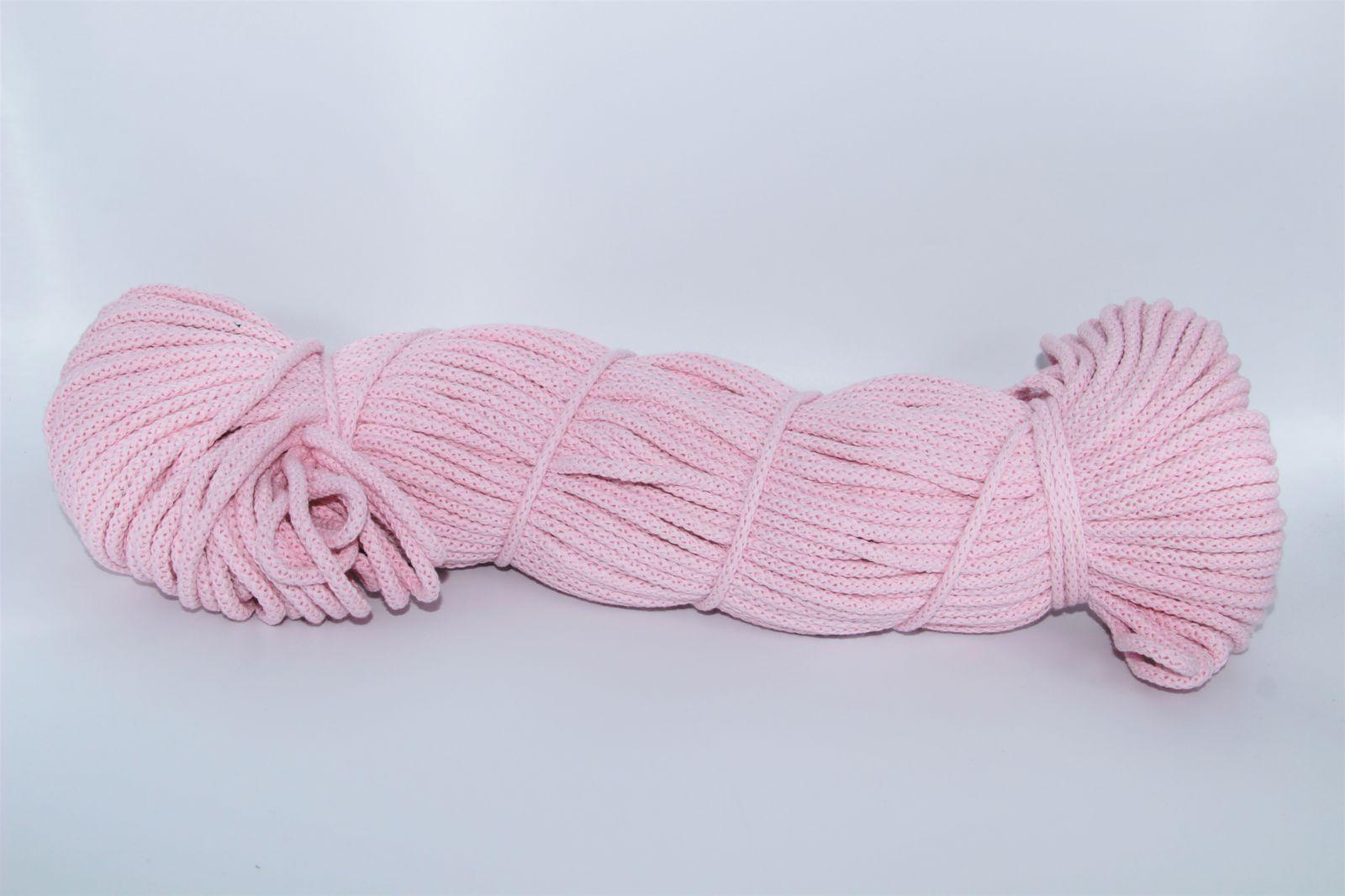 PRIMA Šňůry 5mm 1021m světle růžová