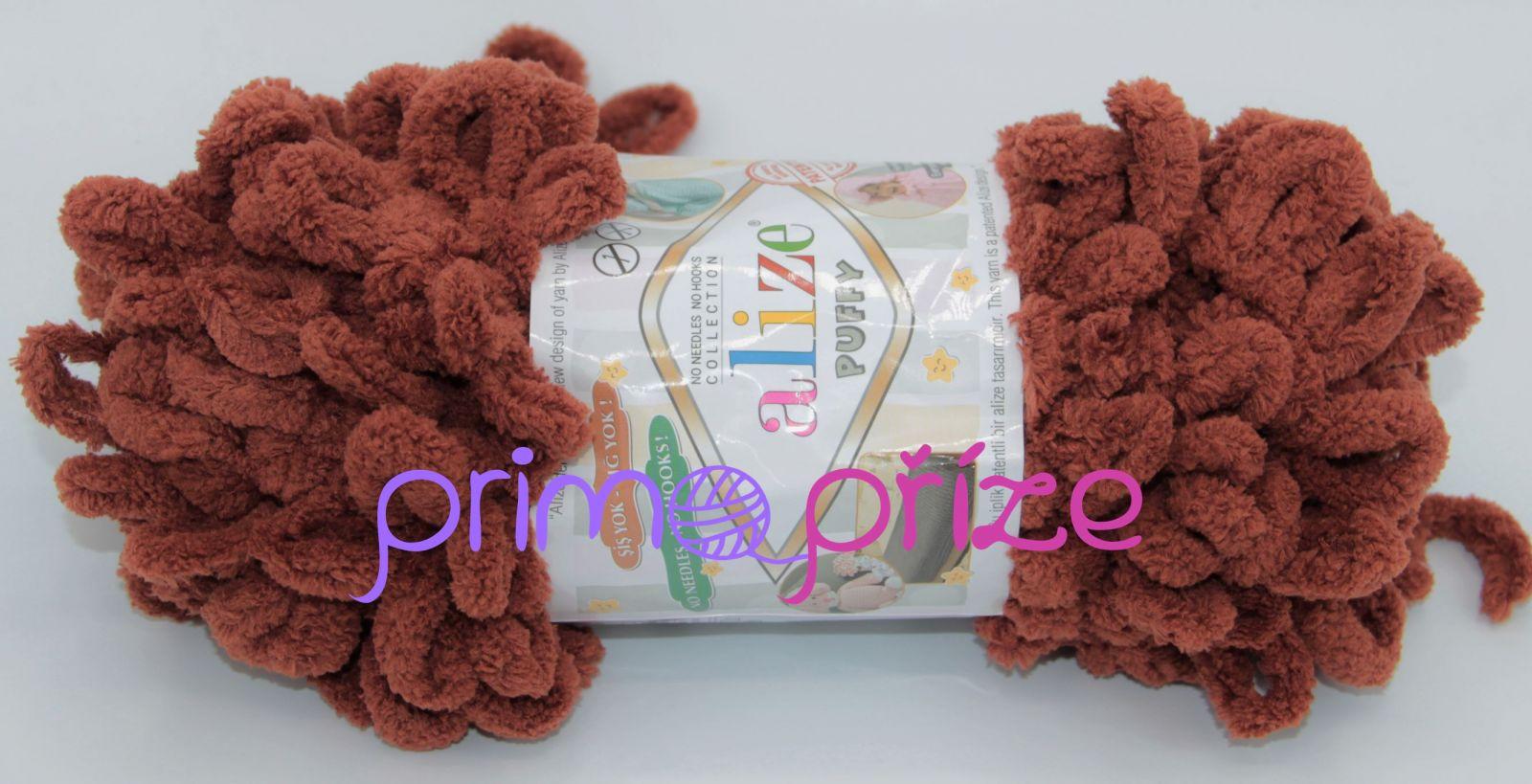ALIZE Puffy 597 cihlová
