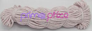 PRIMA Šňůry 5mm bílá s růžovým lurexem