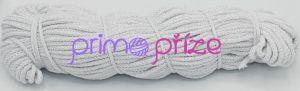 PRIMA Šňůry 5mm bílá se stříbrným lurexem