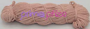 PRIMA Šňůry 5mm světle lososová s růžovým lurexem