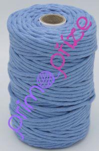 PRIMA Šňůry Macrame Single Twist džínově modrá