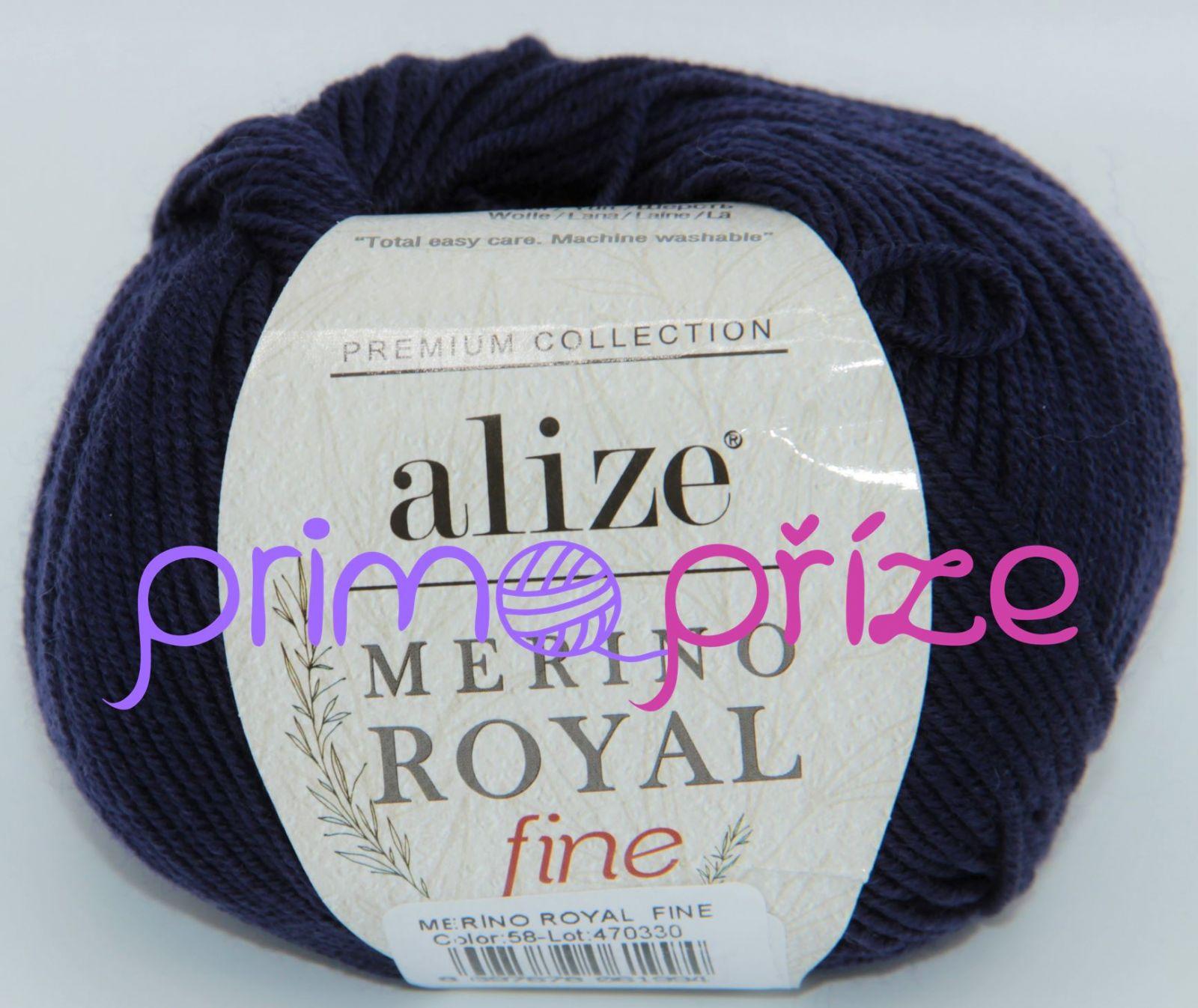ALIZE Merino Royal Fine 058 námořnická modrá