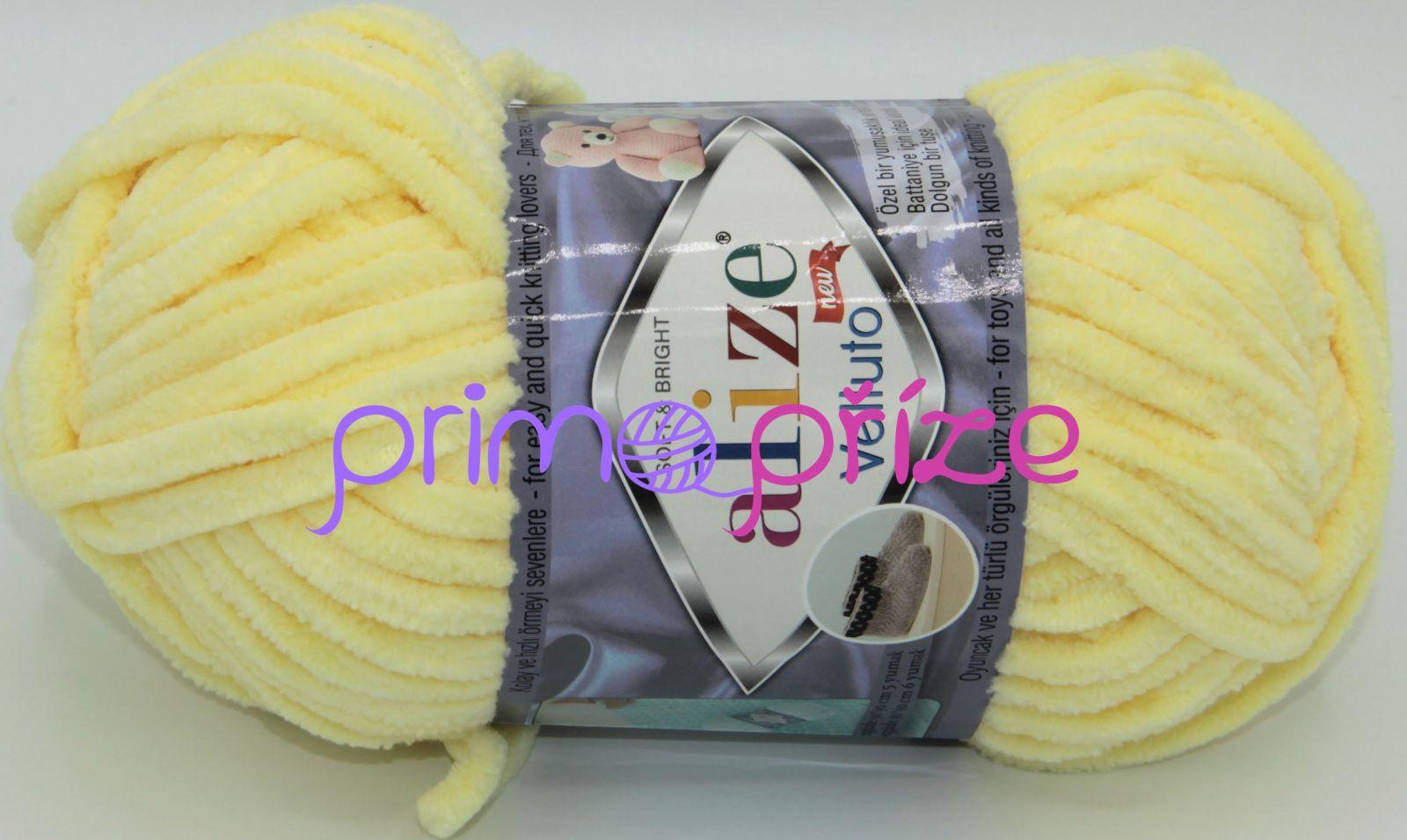 ALIZE Velluto 013 světle žlutá