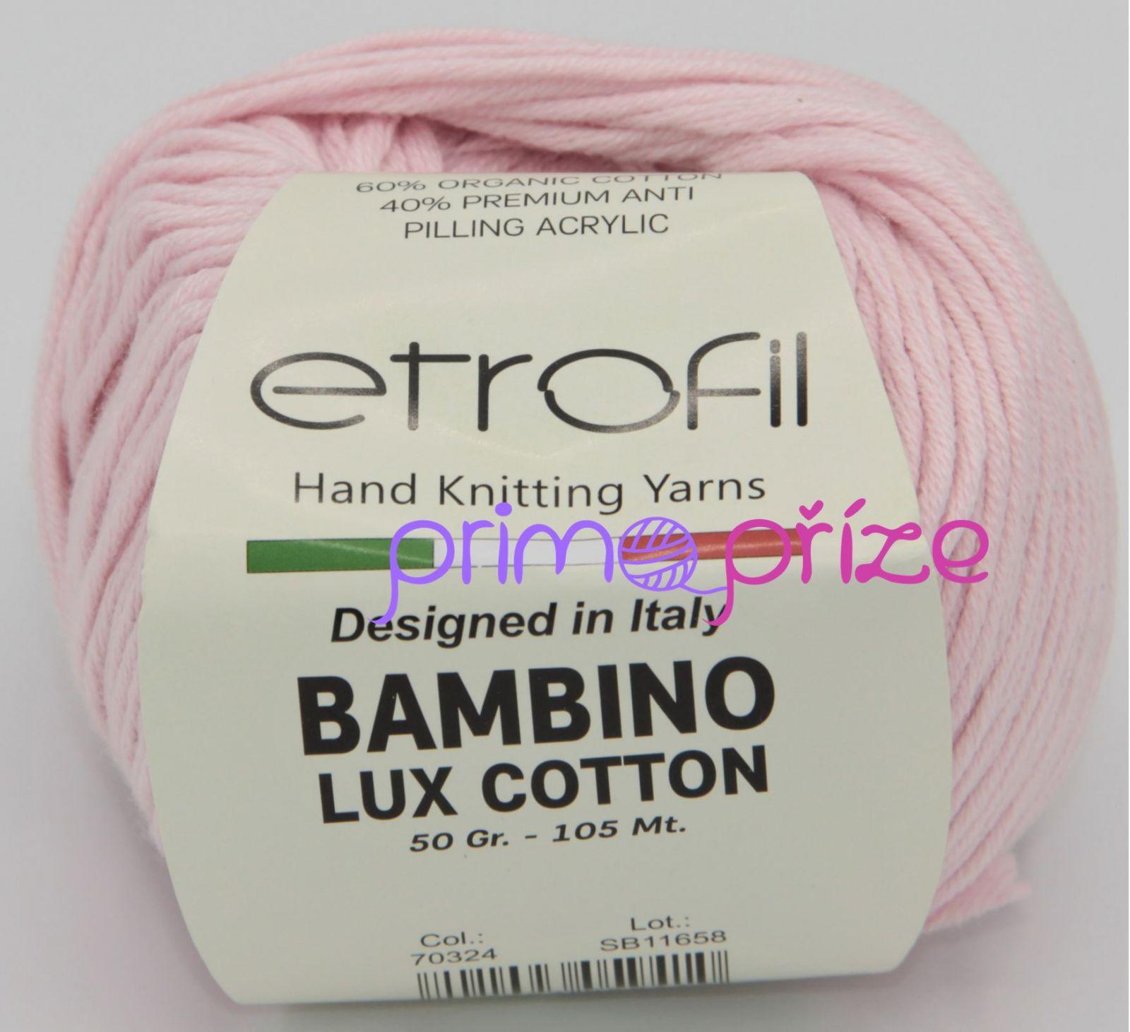 ETROFIL Bambino Lux Cotton 70324 světle růžová