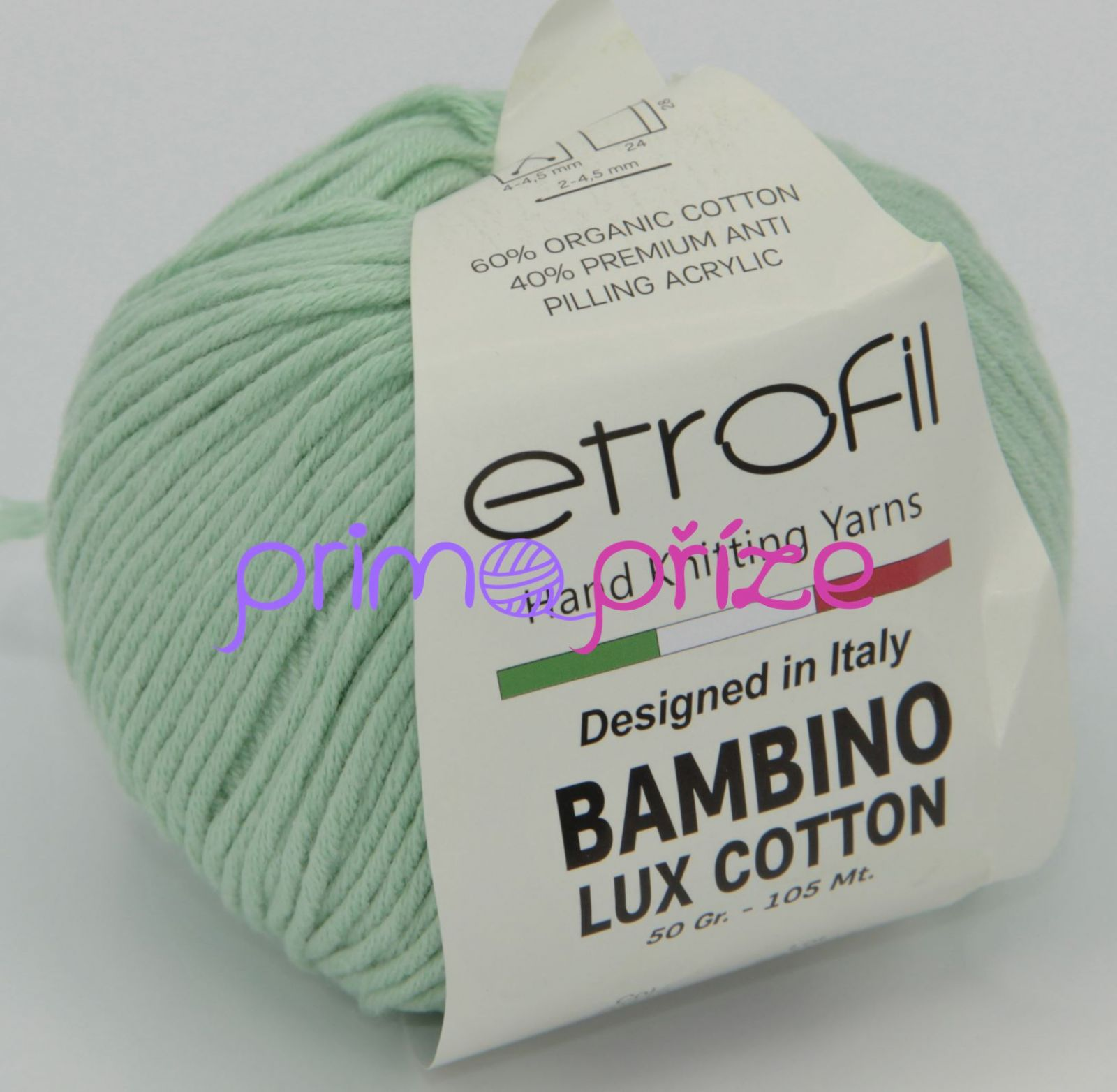 ETROFIL Bambino Lux Cotton 70412 hráškově zelená