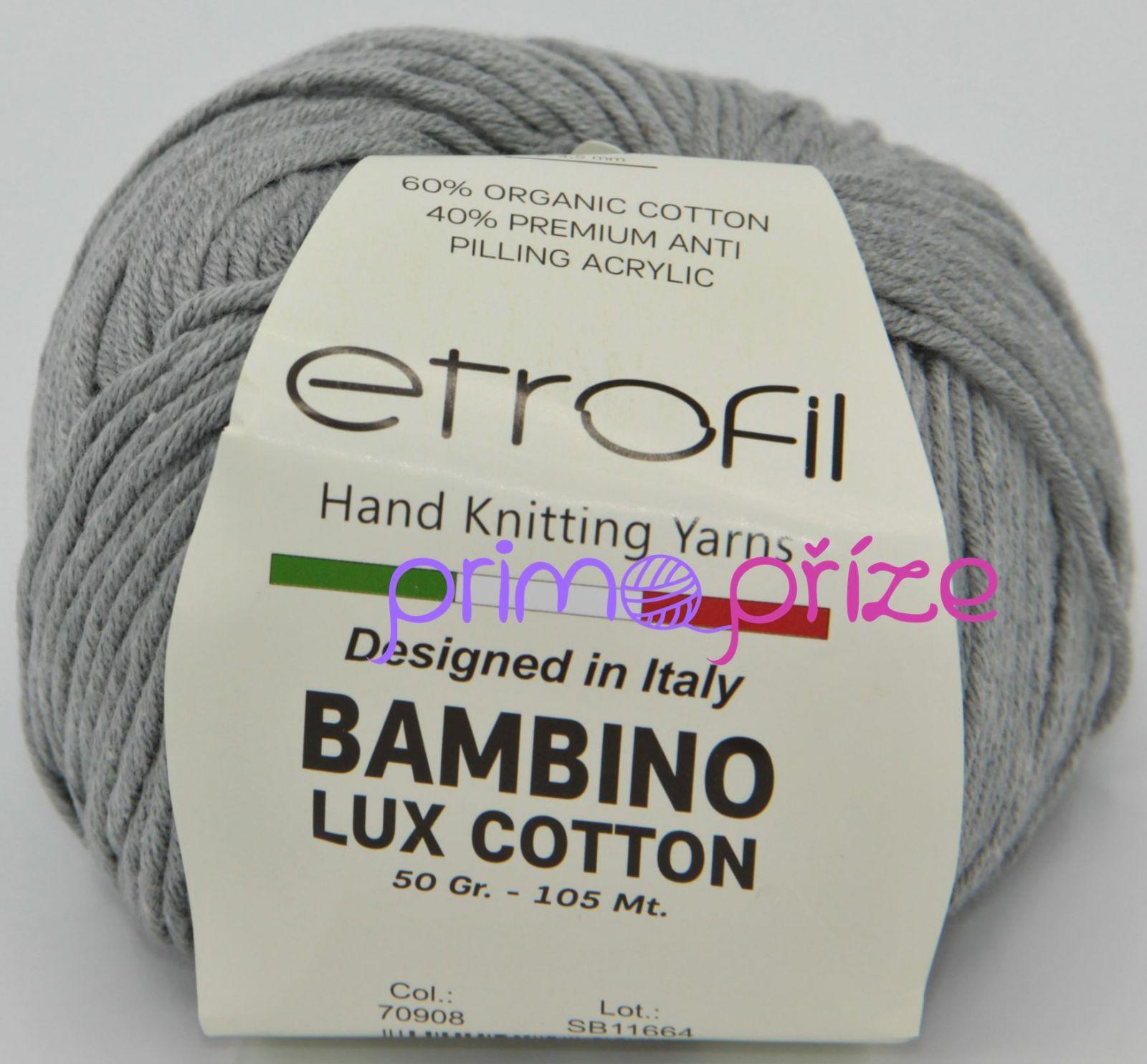 ETROFIL Bambino Lux Cotton 70908 šedá