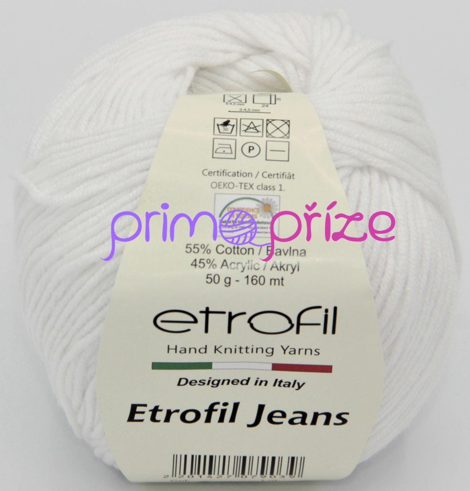 ETROFIL Jeans 002 bílá