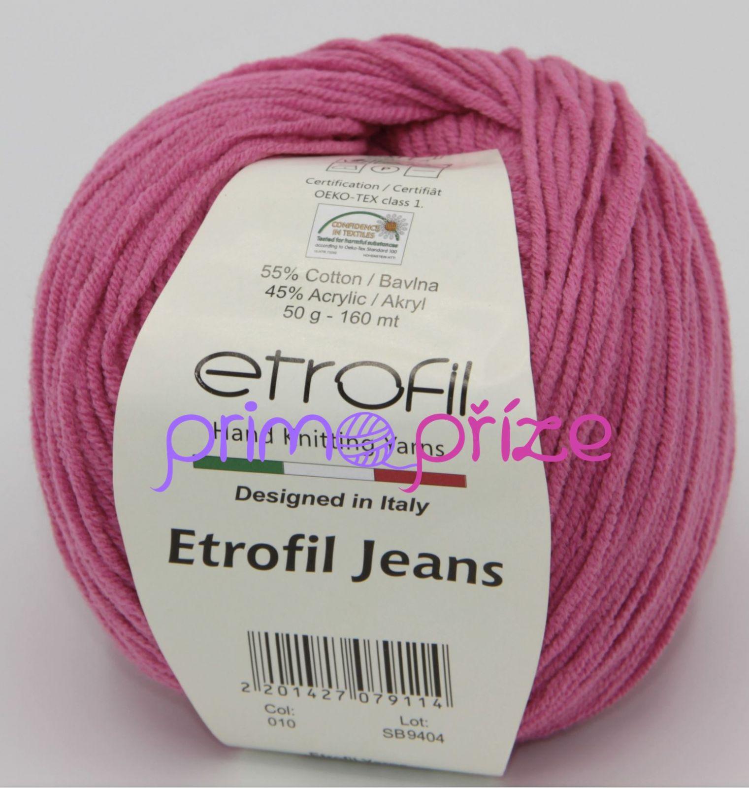 ETROFIL Jeans 010 fuchsiová