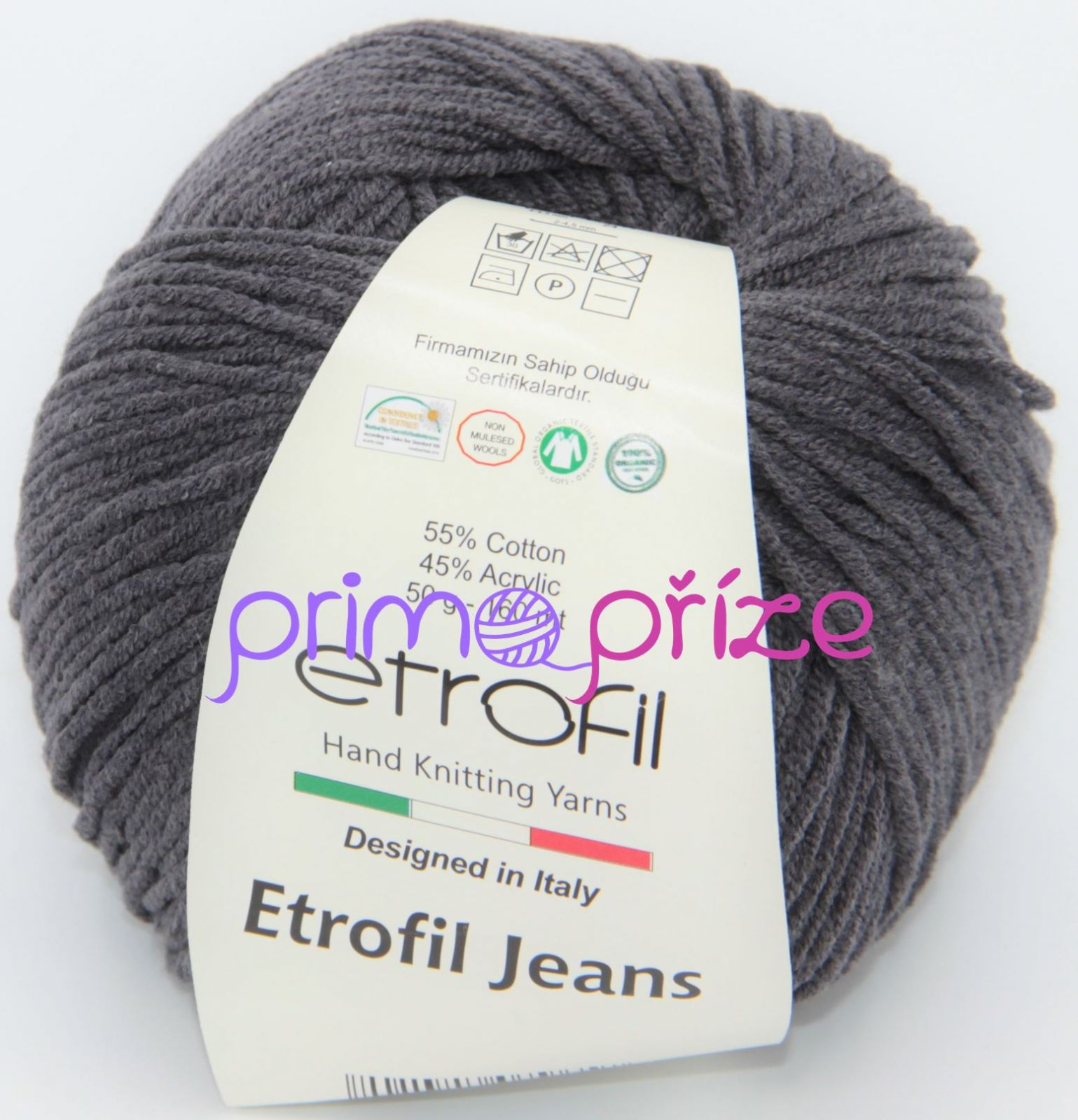ETROFIL Jeans 067 antracitová