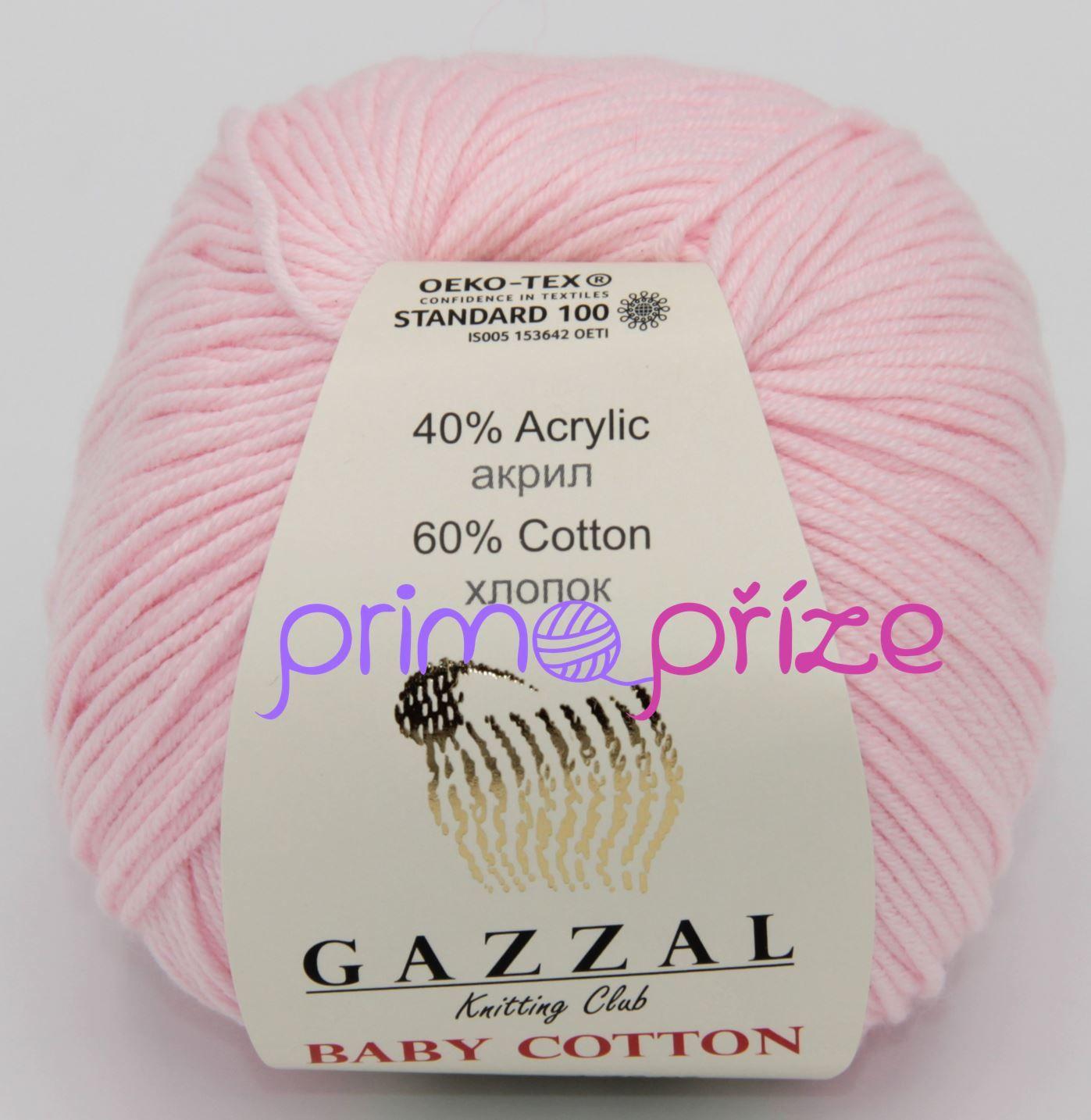 GAZZAL Baby Cotton 3411 světle růžová