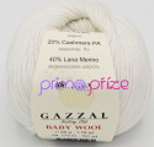 GAZZAL Baby Wool 801 přírodní bílá