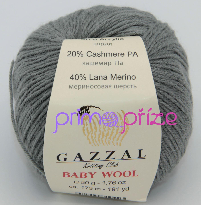 GAZZAL Baby Wool 818 šedá