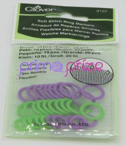 Měkké plastové označovací kroužky - 30ks mix barev