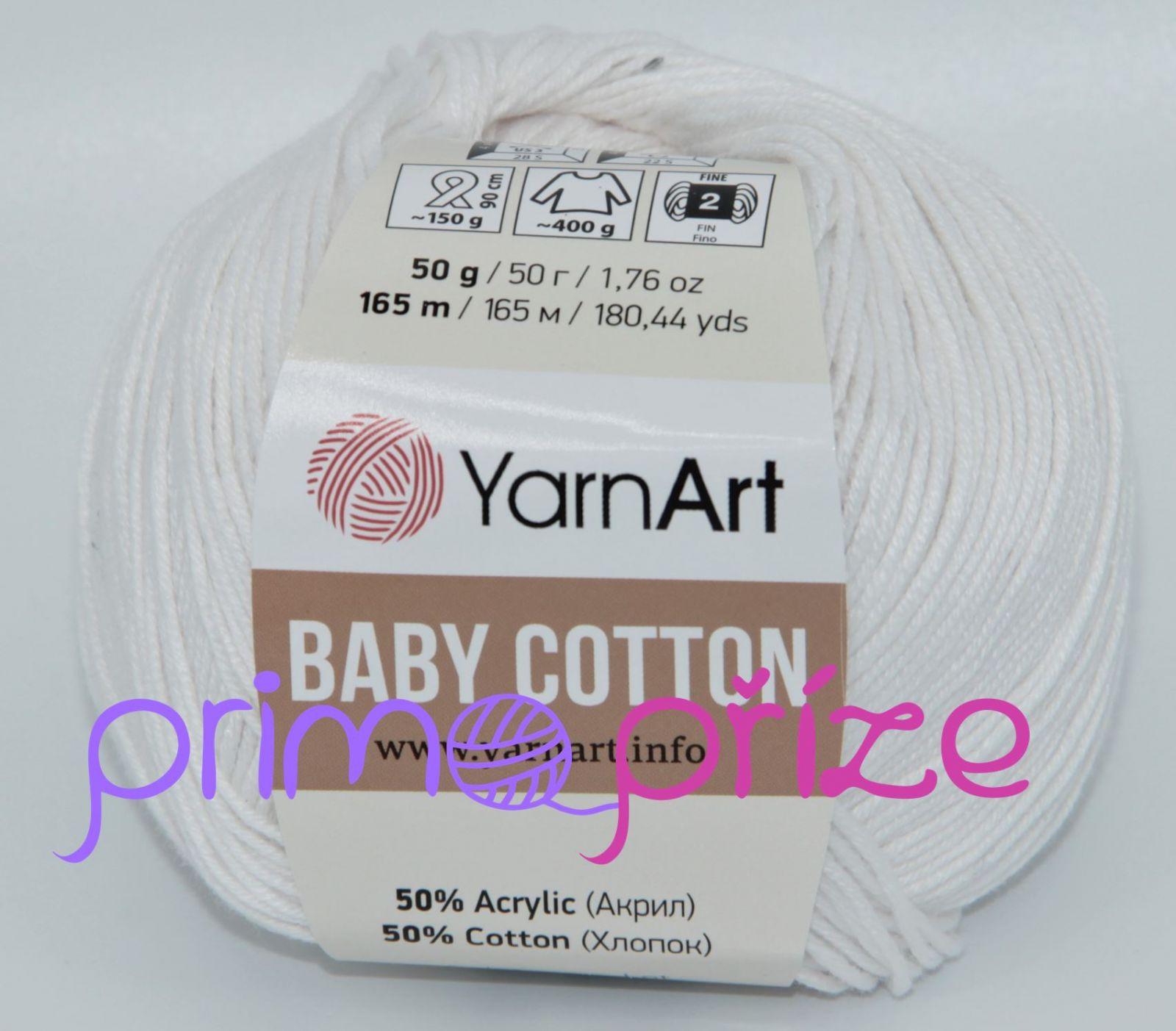 YarnArt Baby Cotton 400 bílá