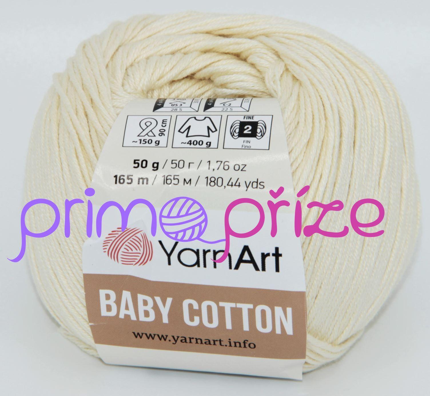 YarnArt Baby Cotton 402 krémová