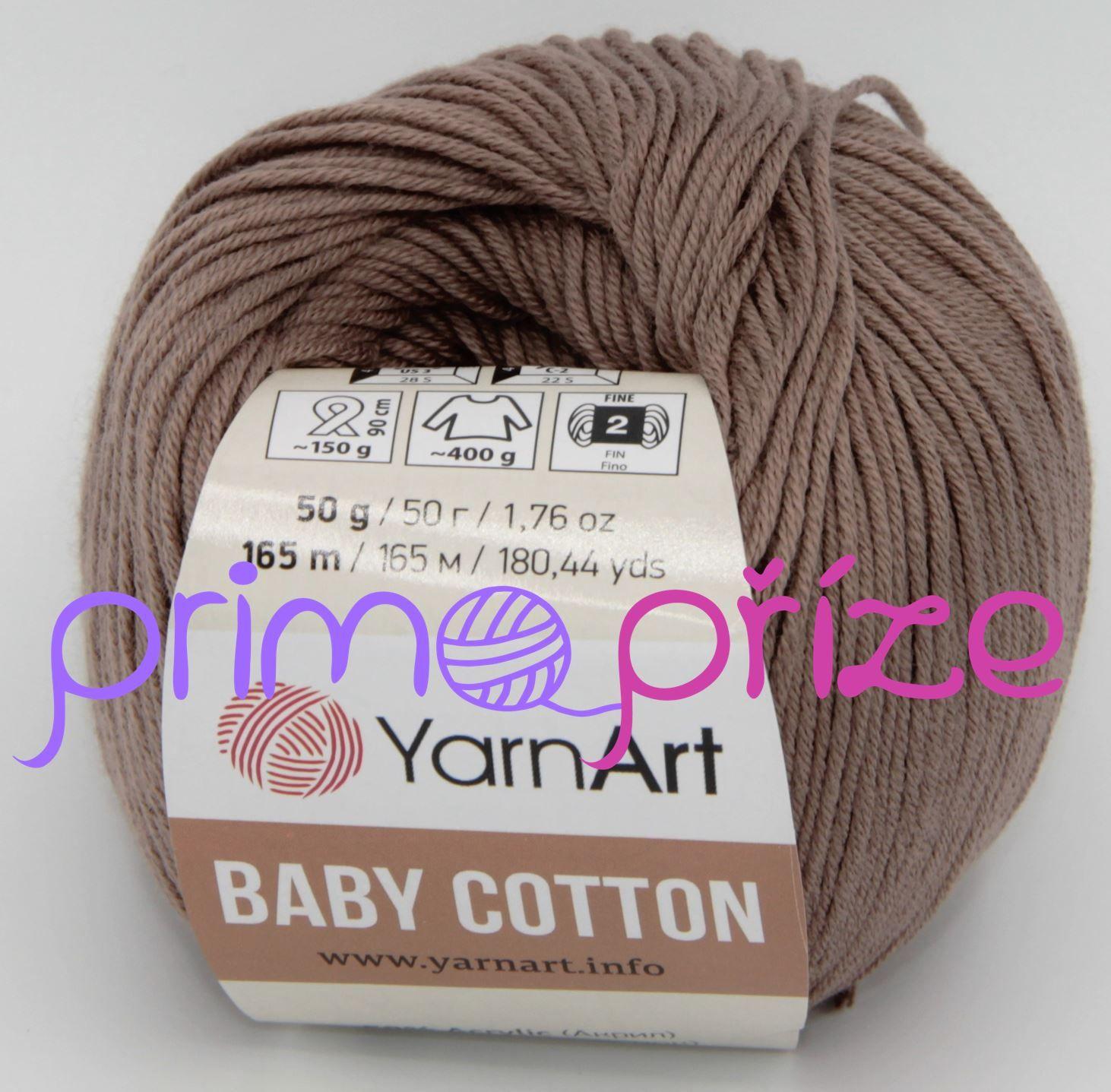 YarnArt Baby Cotton 407 hnědobéžová