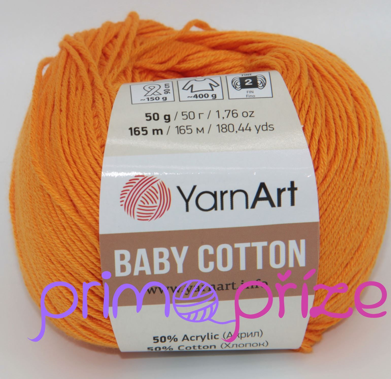 YarnArt Baby Cotton 425 oranžová