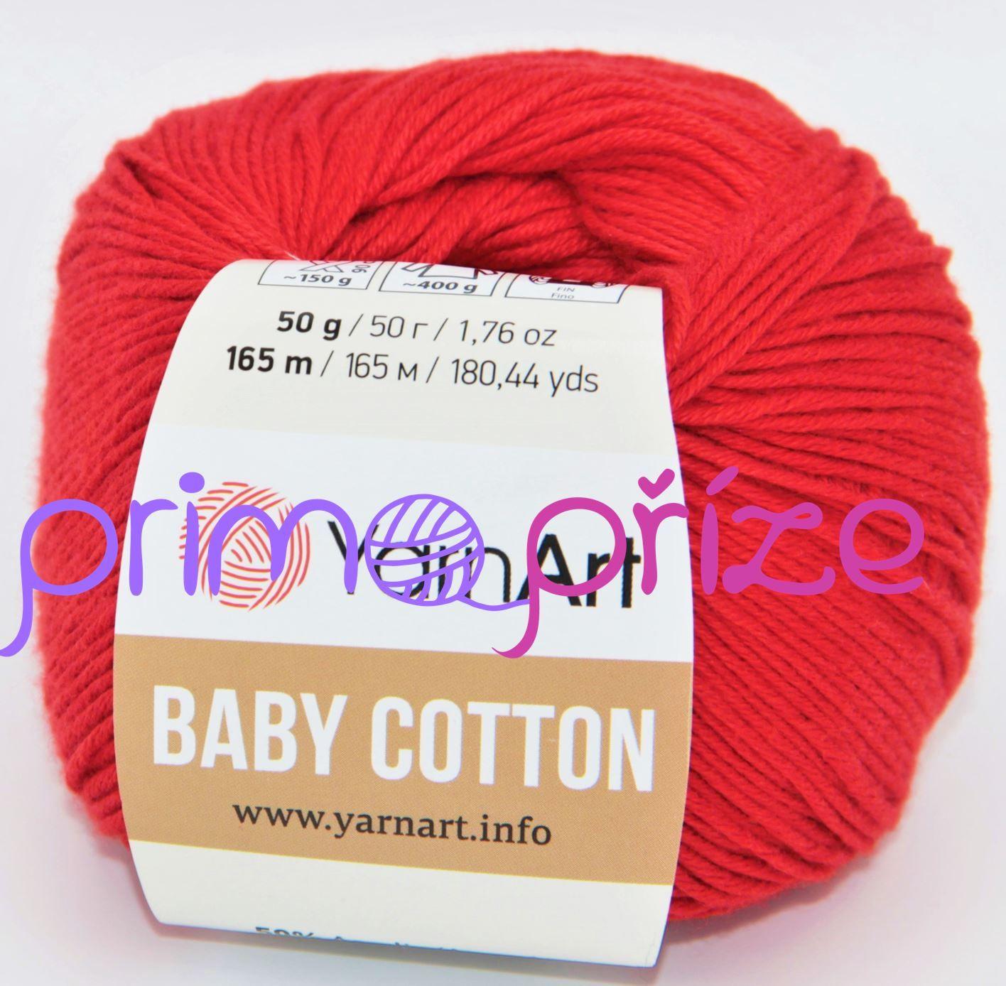 YarnArt Baby Cotton 426 červená