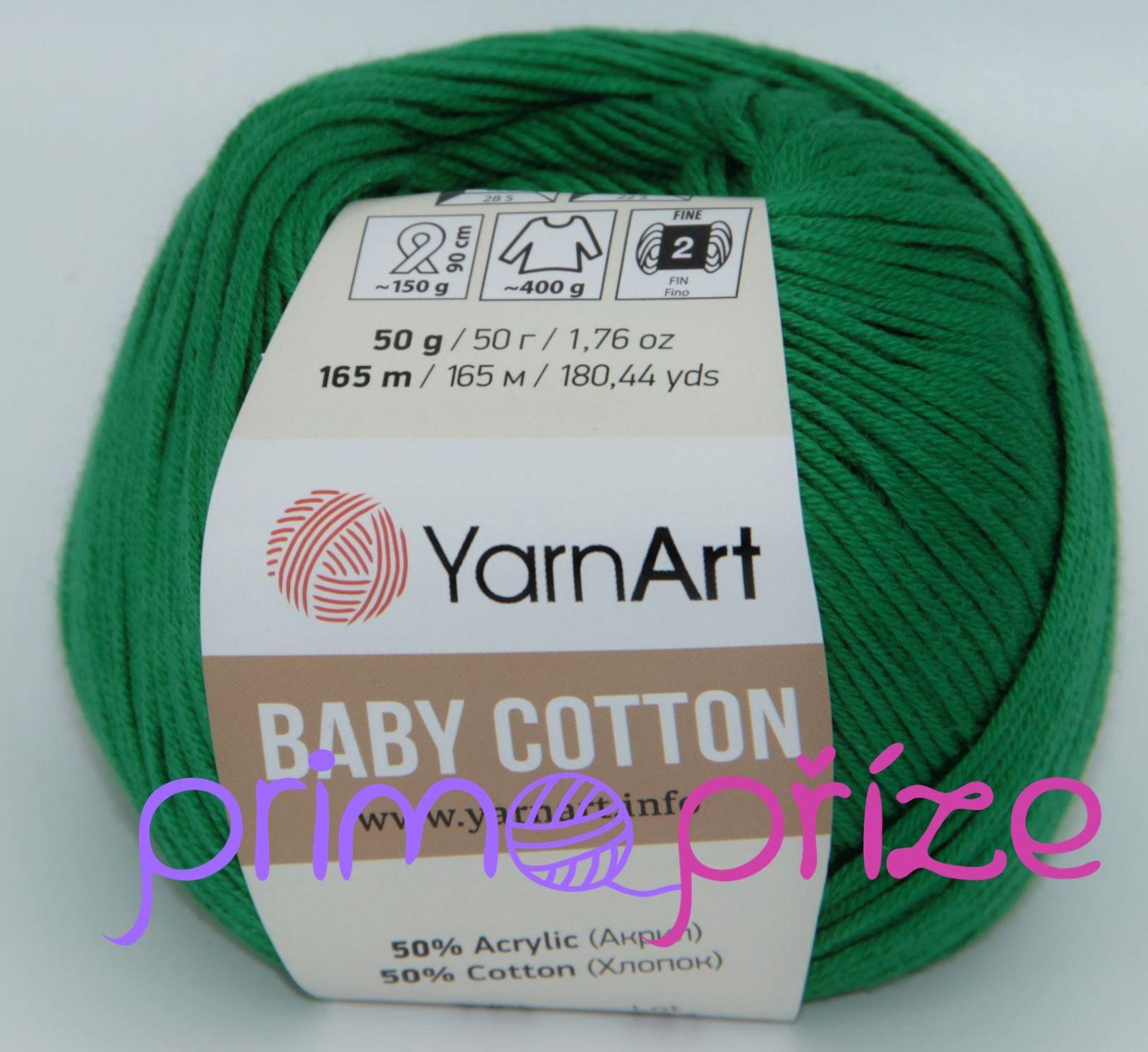 YarnArt Baby Cotton 442 zelená