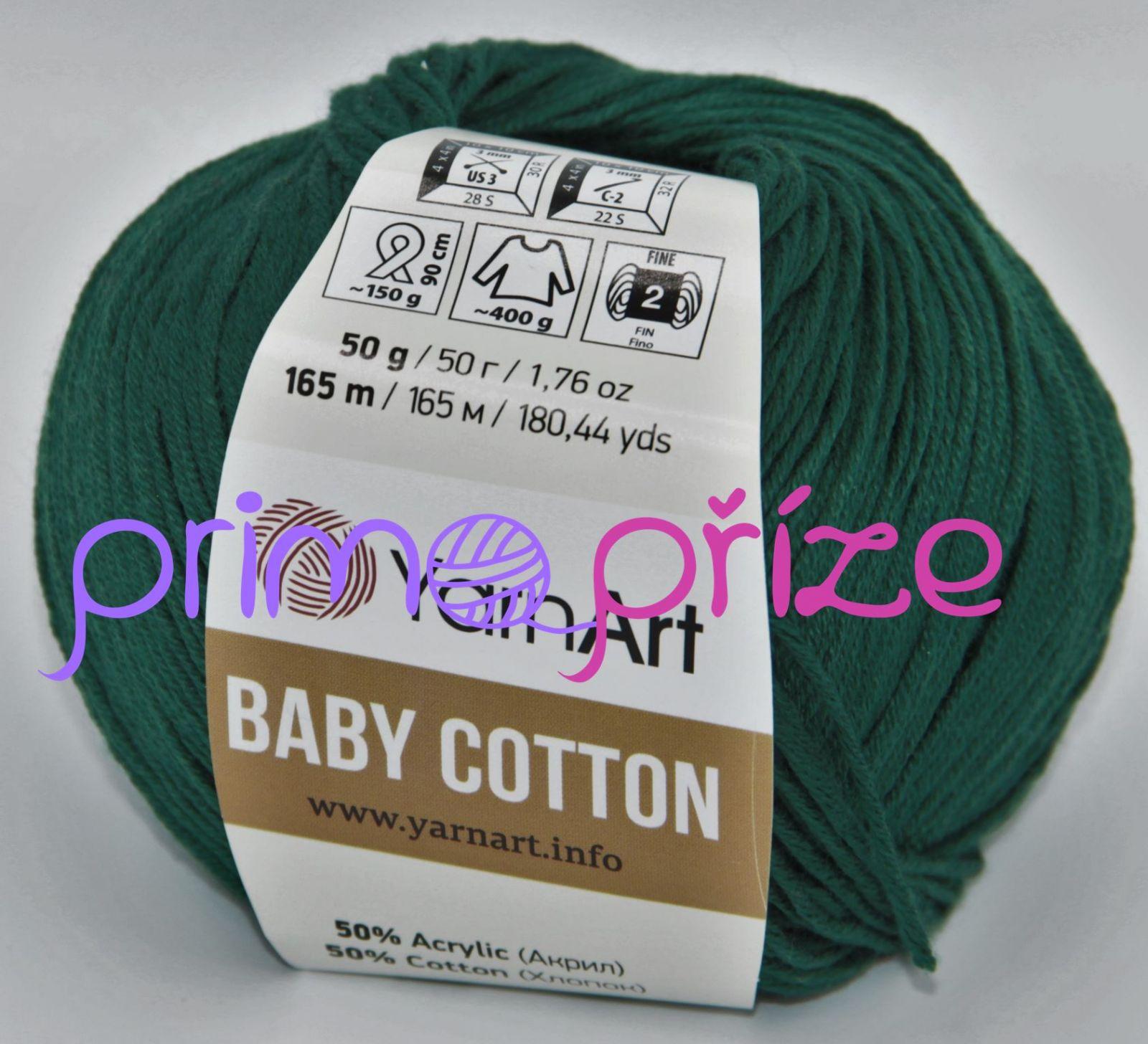 YarnArt Baby Cotton 444 lahvově zelená